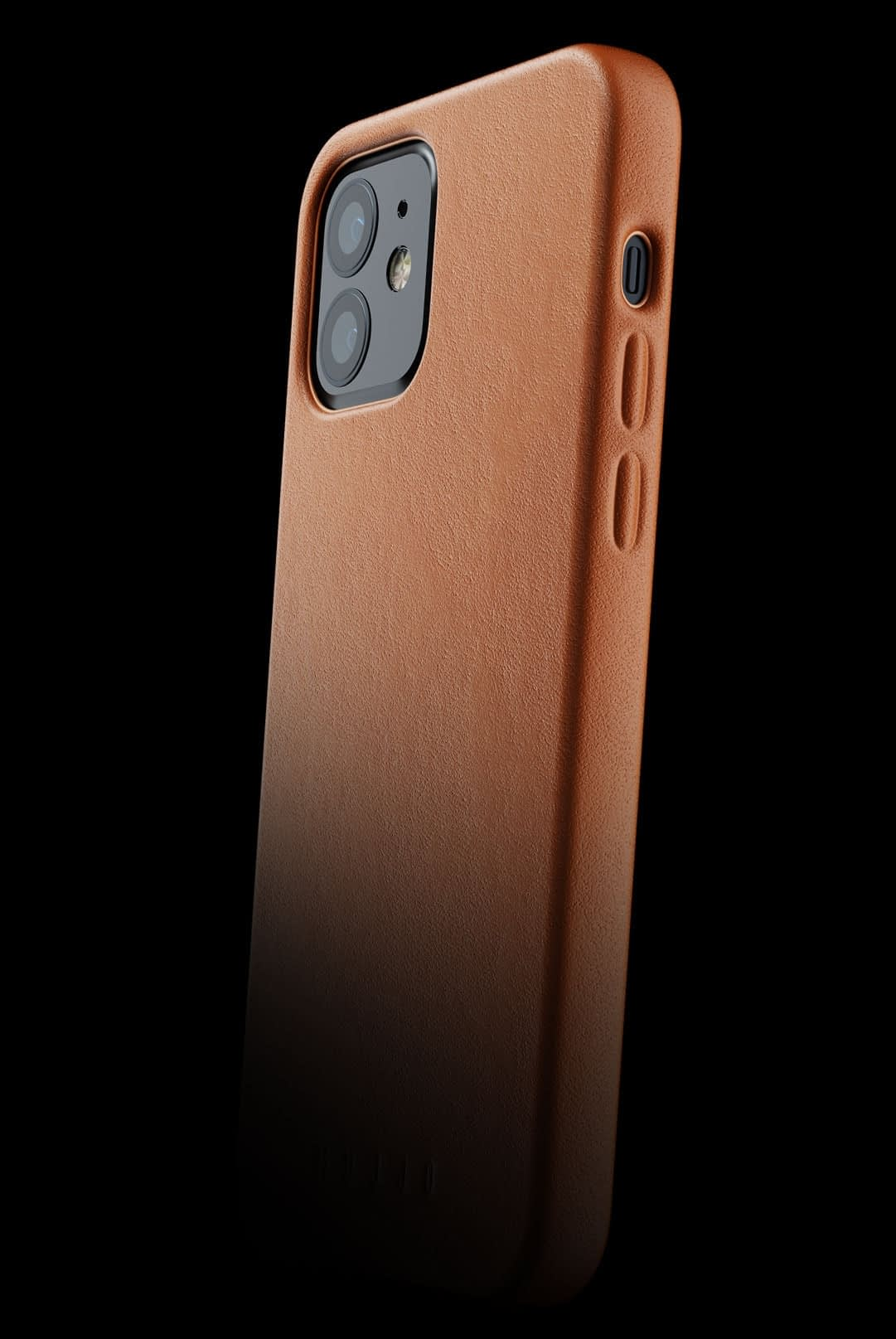 full leather case for iphone 12 tan 002