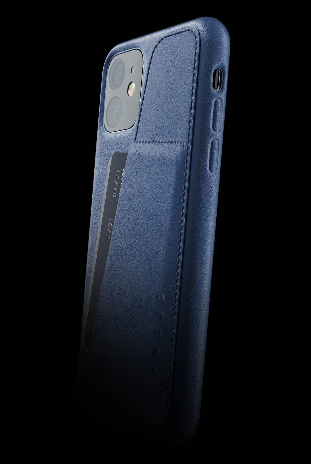 full leather wallet case for iphone 11 monaco blue 002
