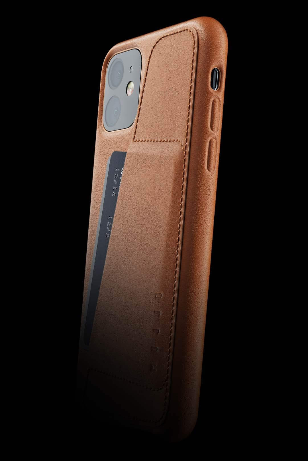 full leather wallet case for iphone 11 tan 002