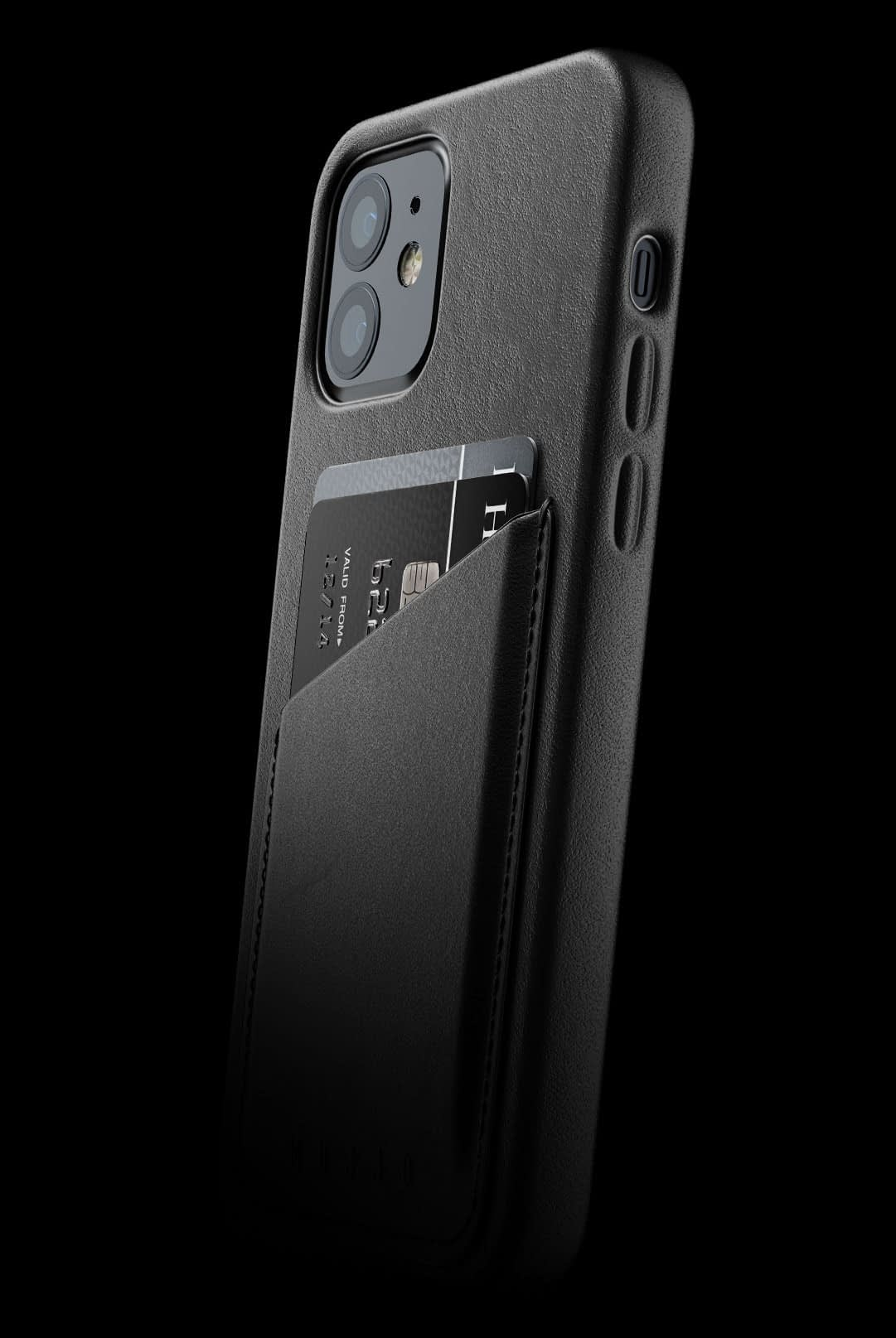 full leather wallet case for iphone 12 black 002