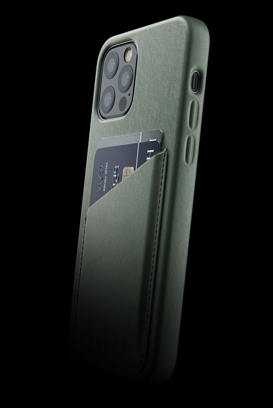 full leather wallet case for iphone 12 pro slate green 002