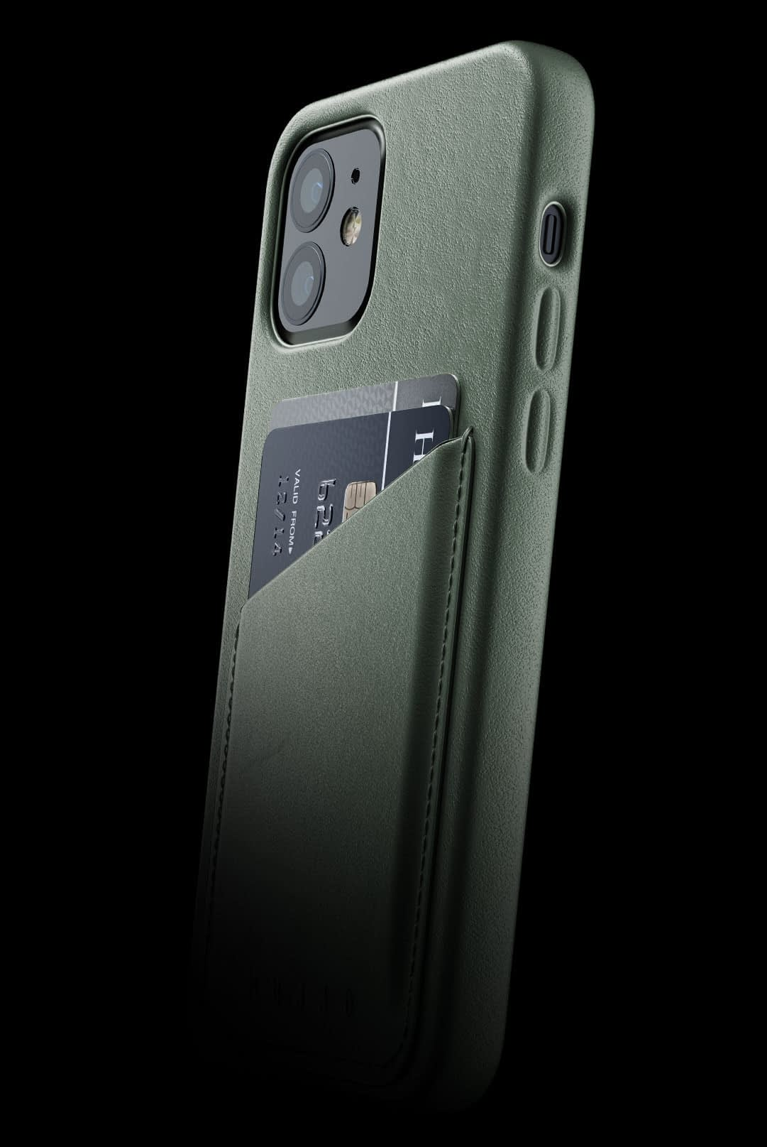 full leather wallet case for iphone 12 slate green 002