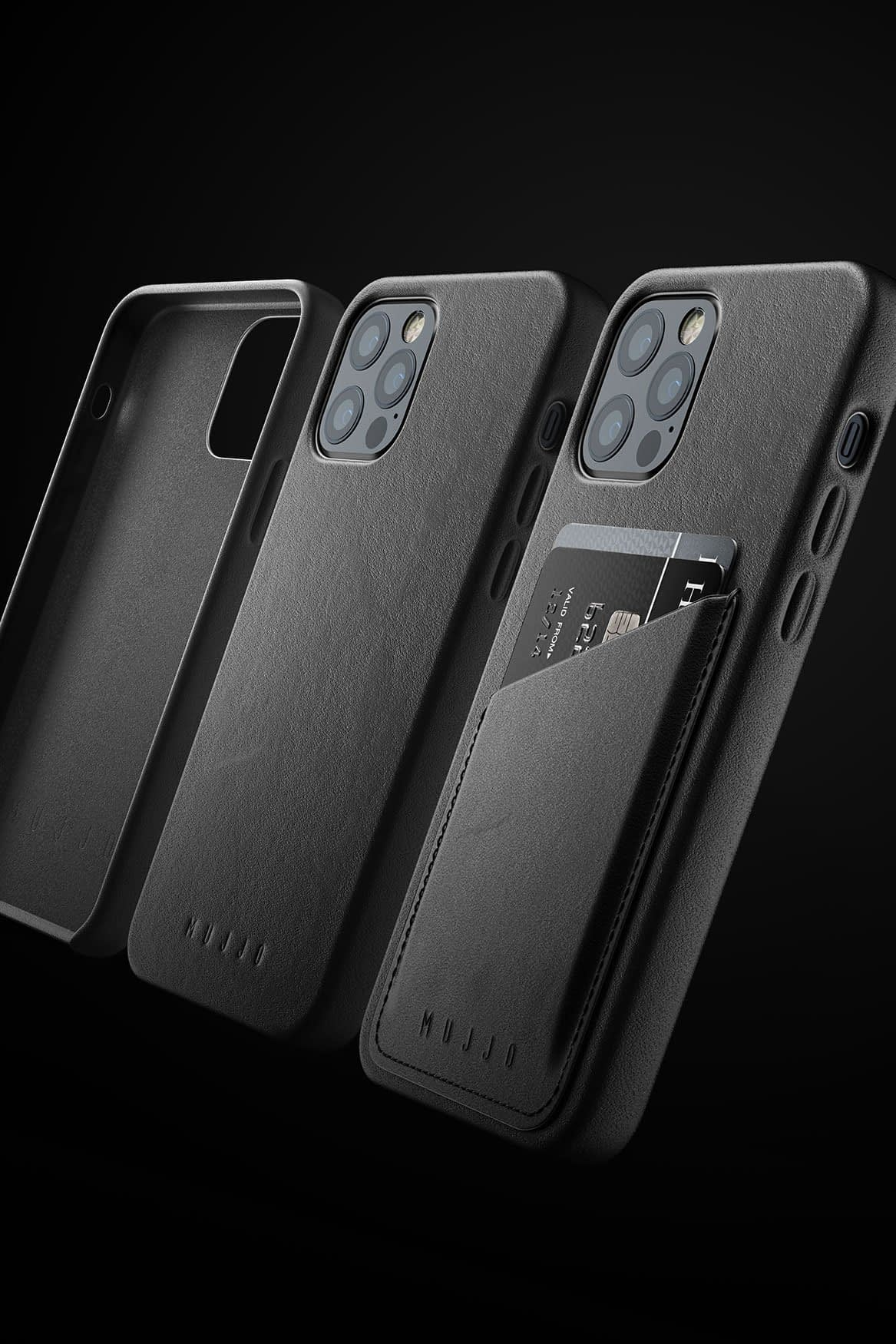 Full Leather Wallet Case for iPhone 12 & 12 Pro Black 07