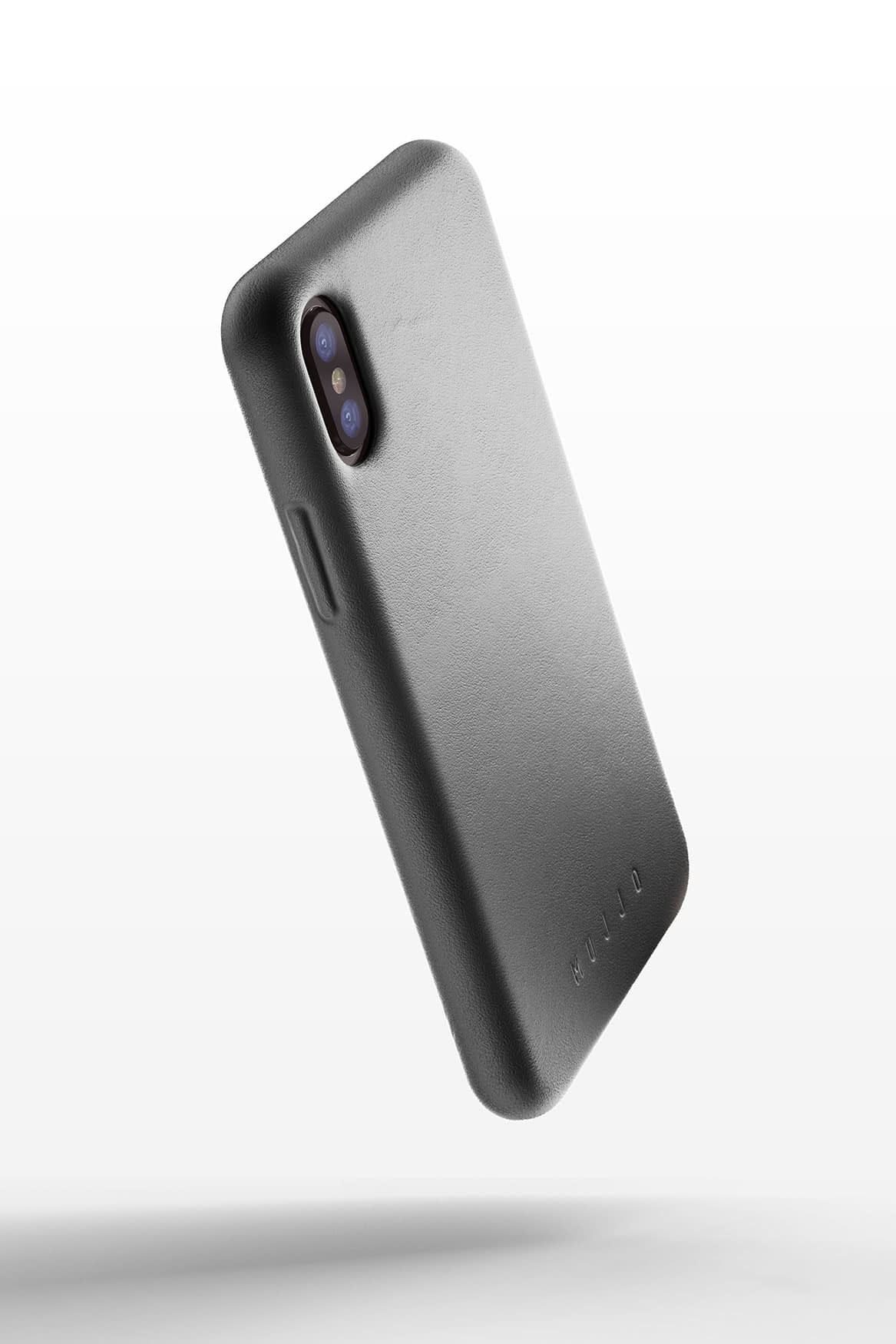 Full leather case for iPhone X Gray 01