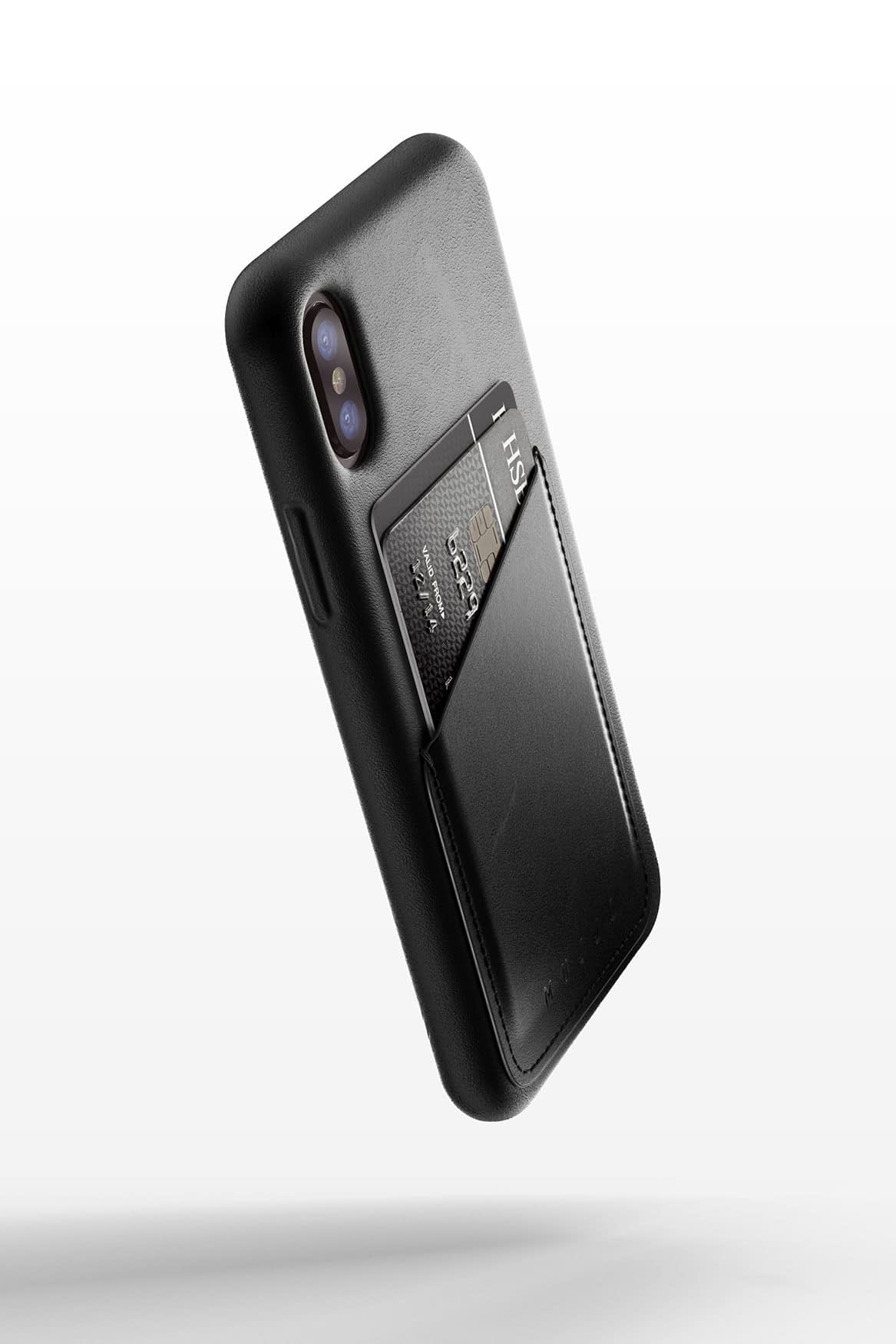 Full leather wallet case for iPhone X Black 01
