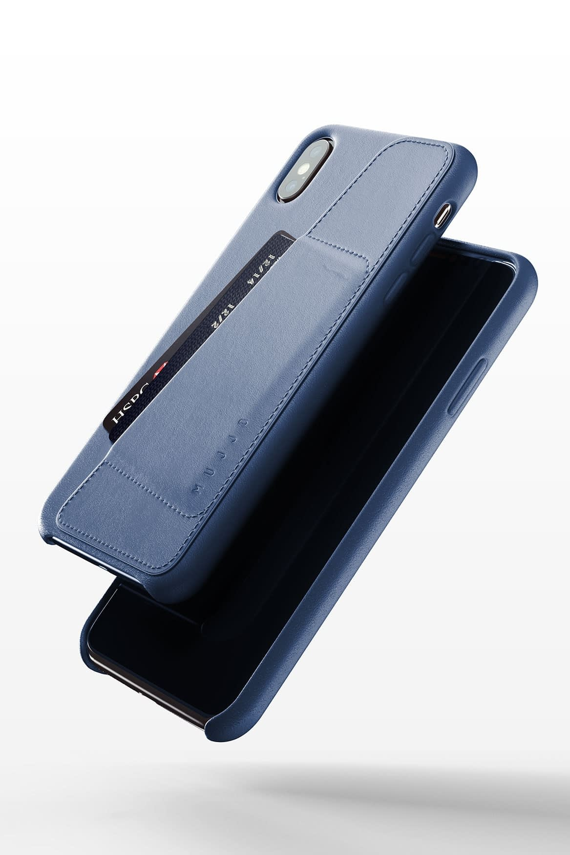 Full leather wallet case for iPhone Xs Max Blue 03