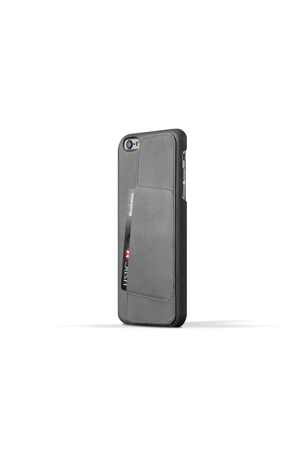Leather Wallet Case 80° for iPhone 6 Plus Gray 003