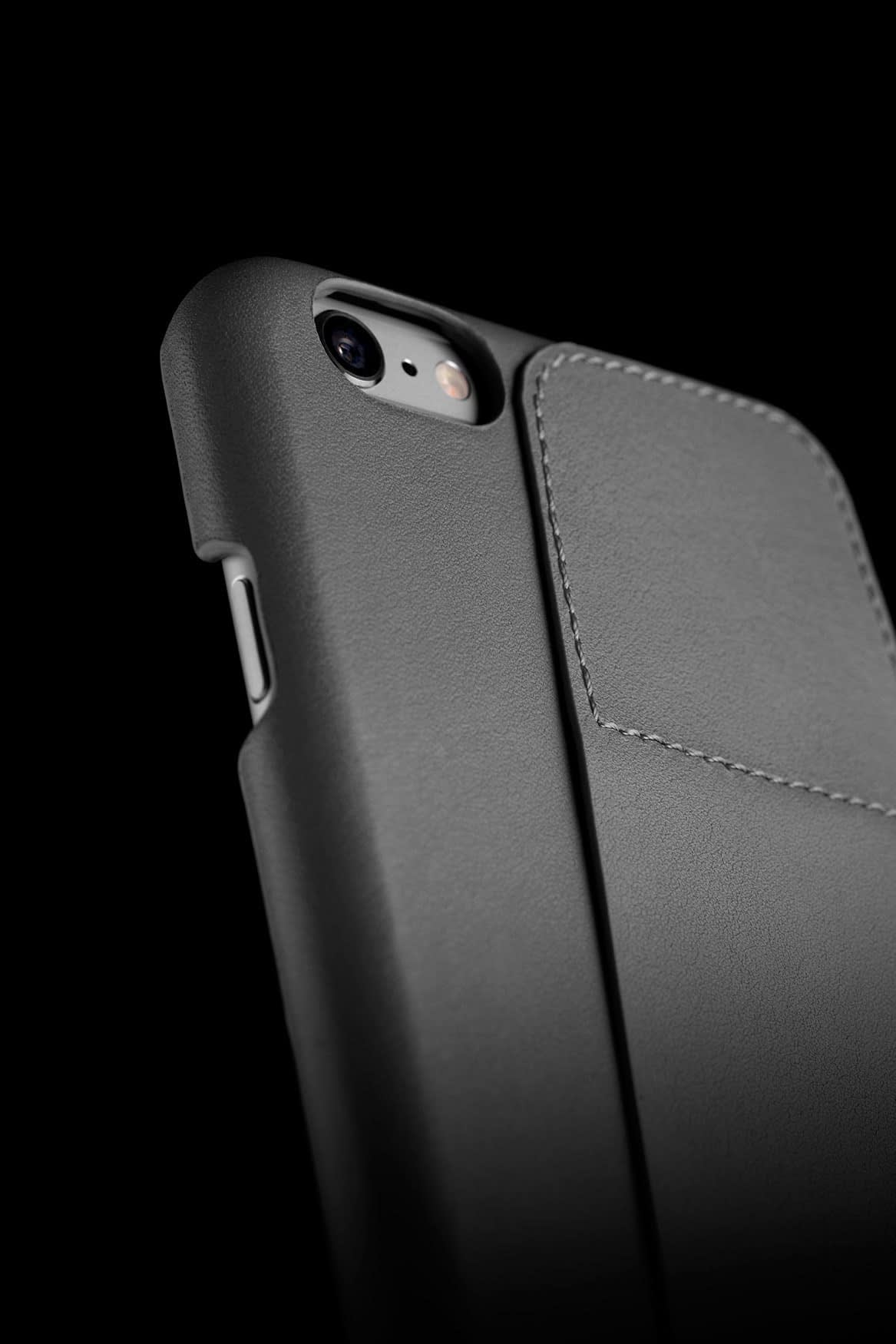 Leather Wallet Case 80° for iPhone 6 Plus Gray Lifestyle 002