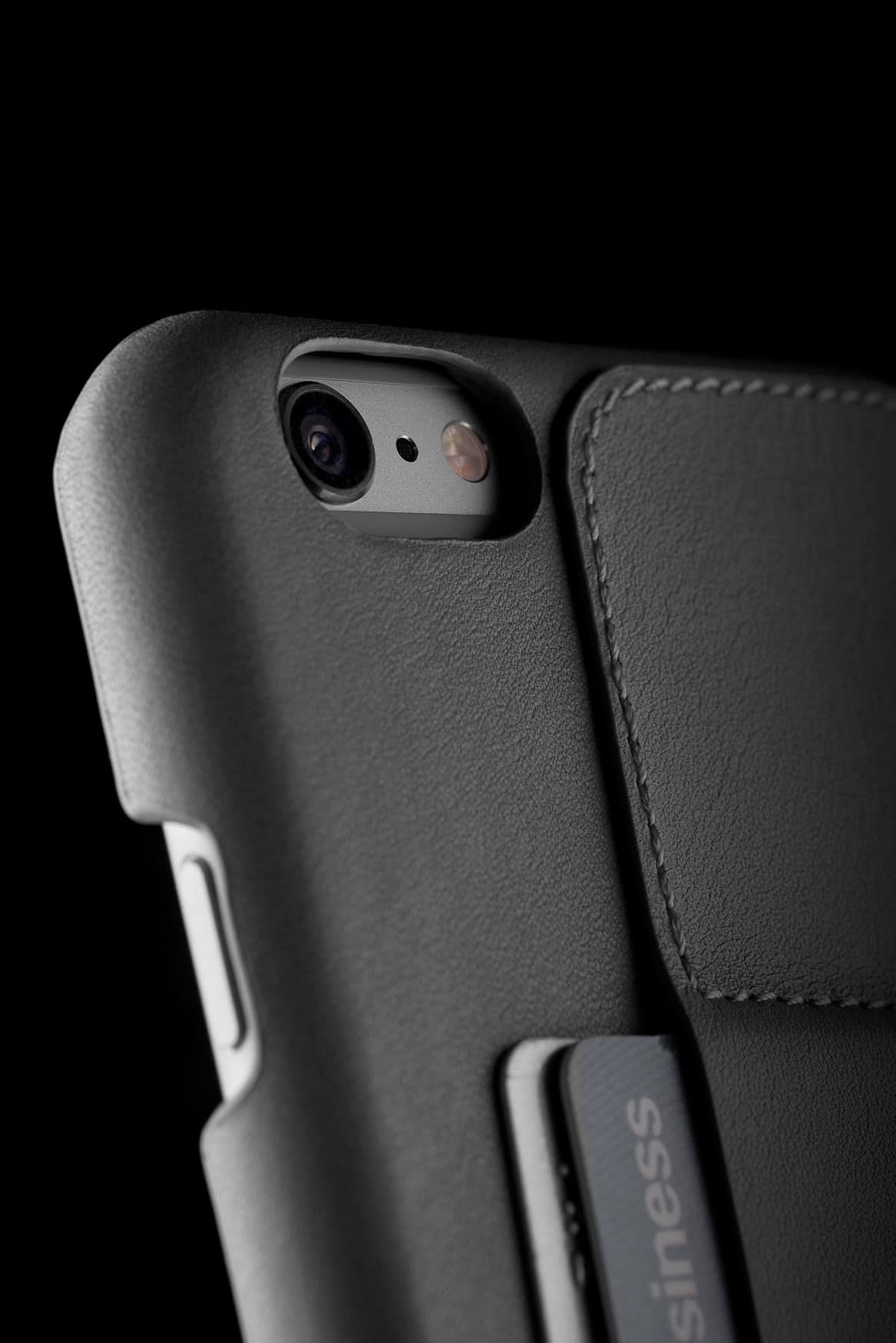 Leather Wallet Case 80° for iPhone 6 Plus Gray Lifestyle 005