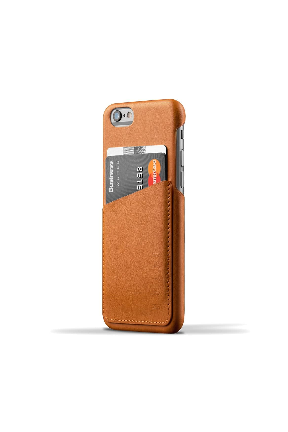 Leather Wallet Case for iPhone 6s Tan 001