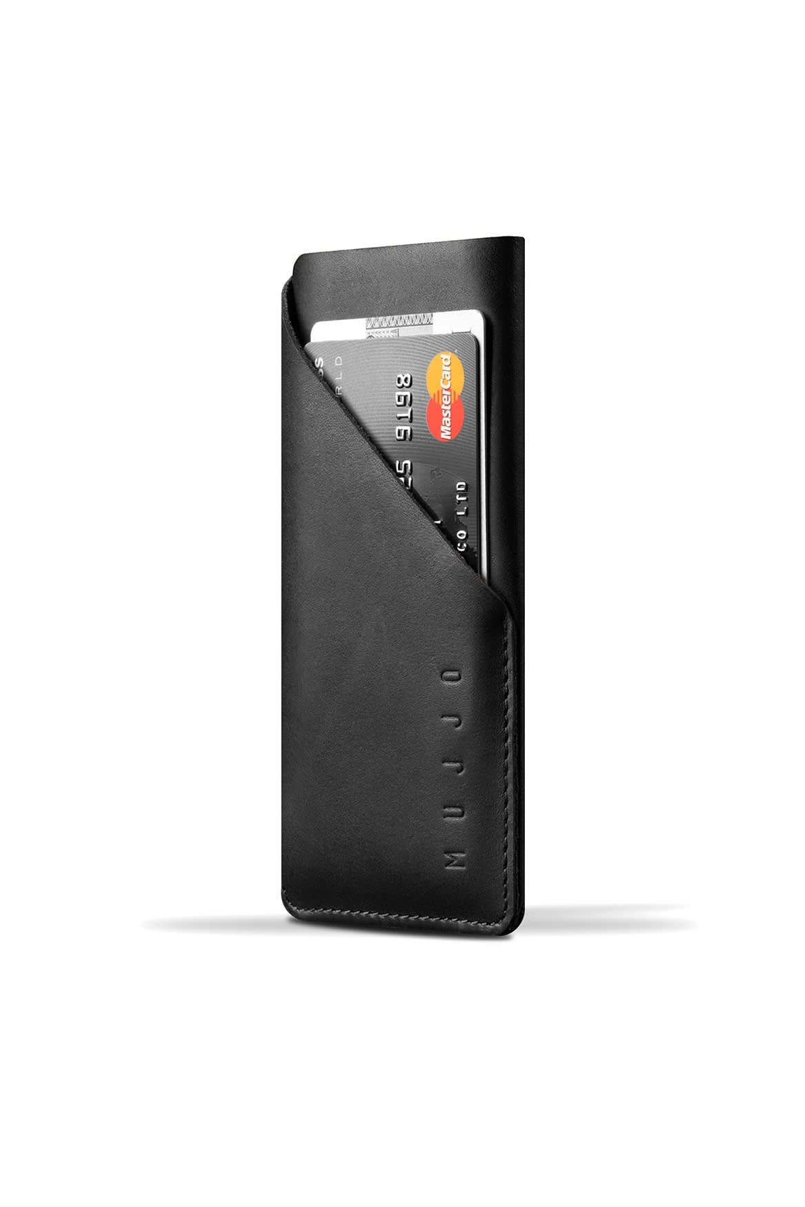Leather Wallet Sleeve for iPhone X Black 001