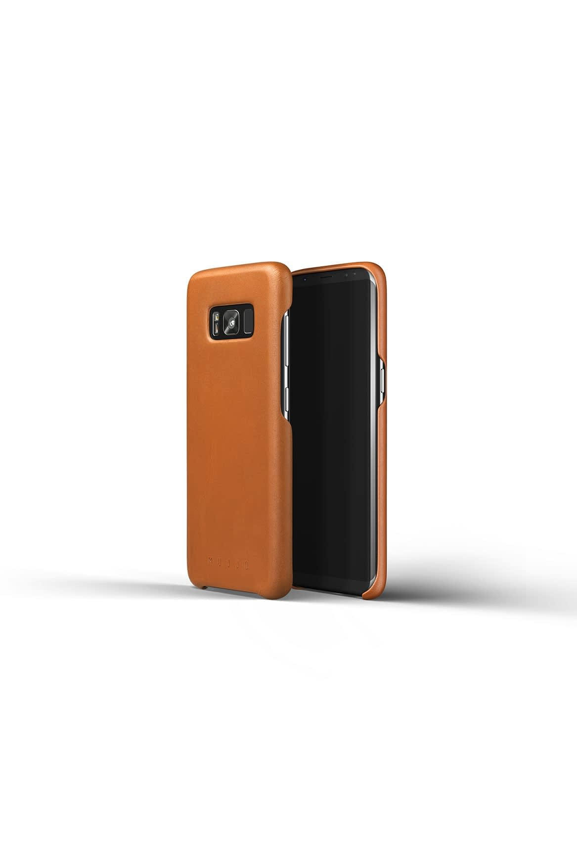 Leather case for Galaxy S8 Saddle Tan Studio 2