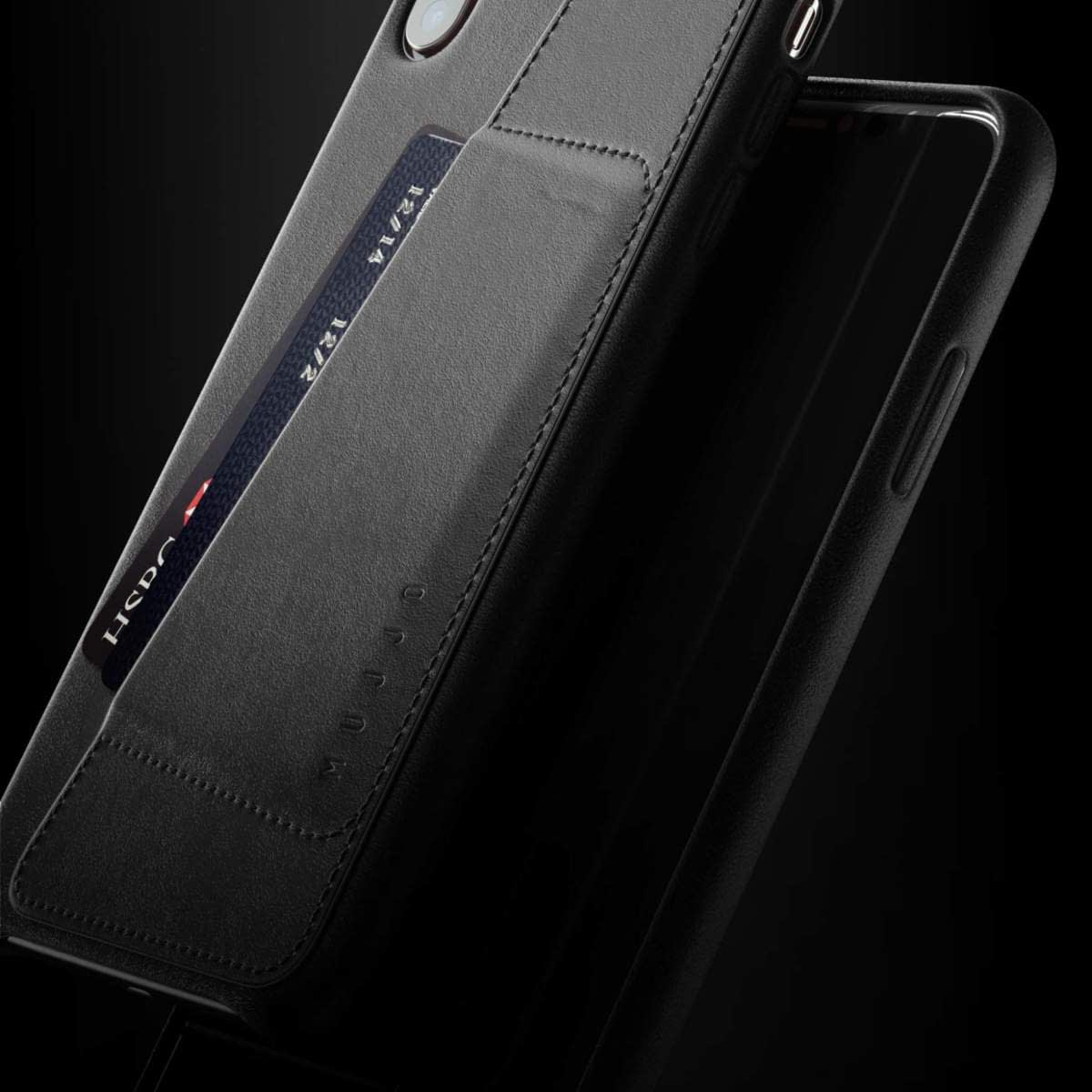 Full leather wallet case for iPhone Xs Black 08