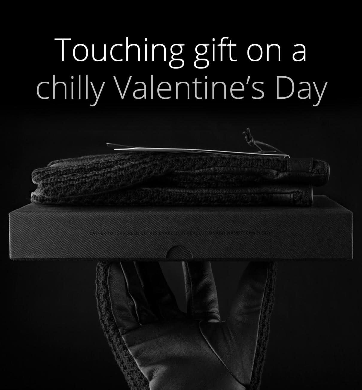touching gift on a chilly valentines day