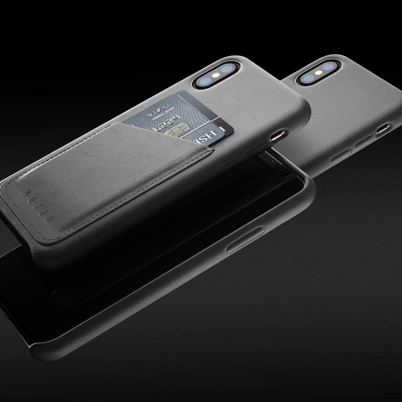 Full leather wallet case for iPhone Xs Gray 01