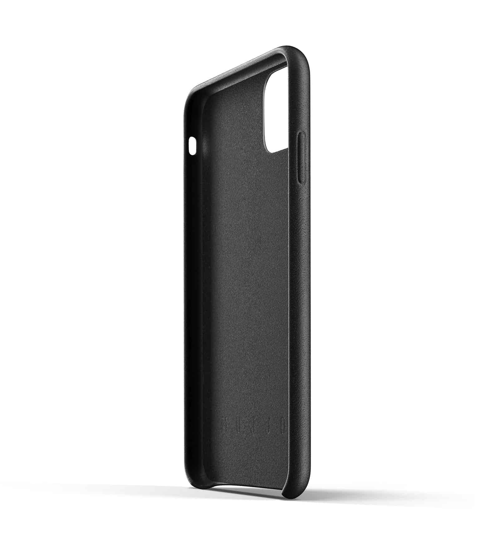 Full leather wallet case for iPhone 11 Pro Max Black Thumbnail 05