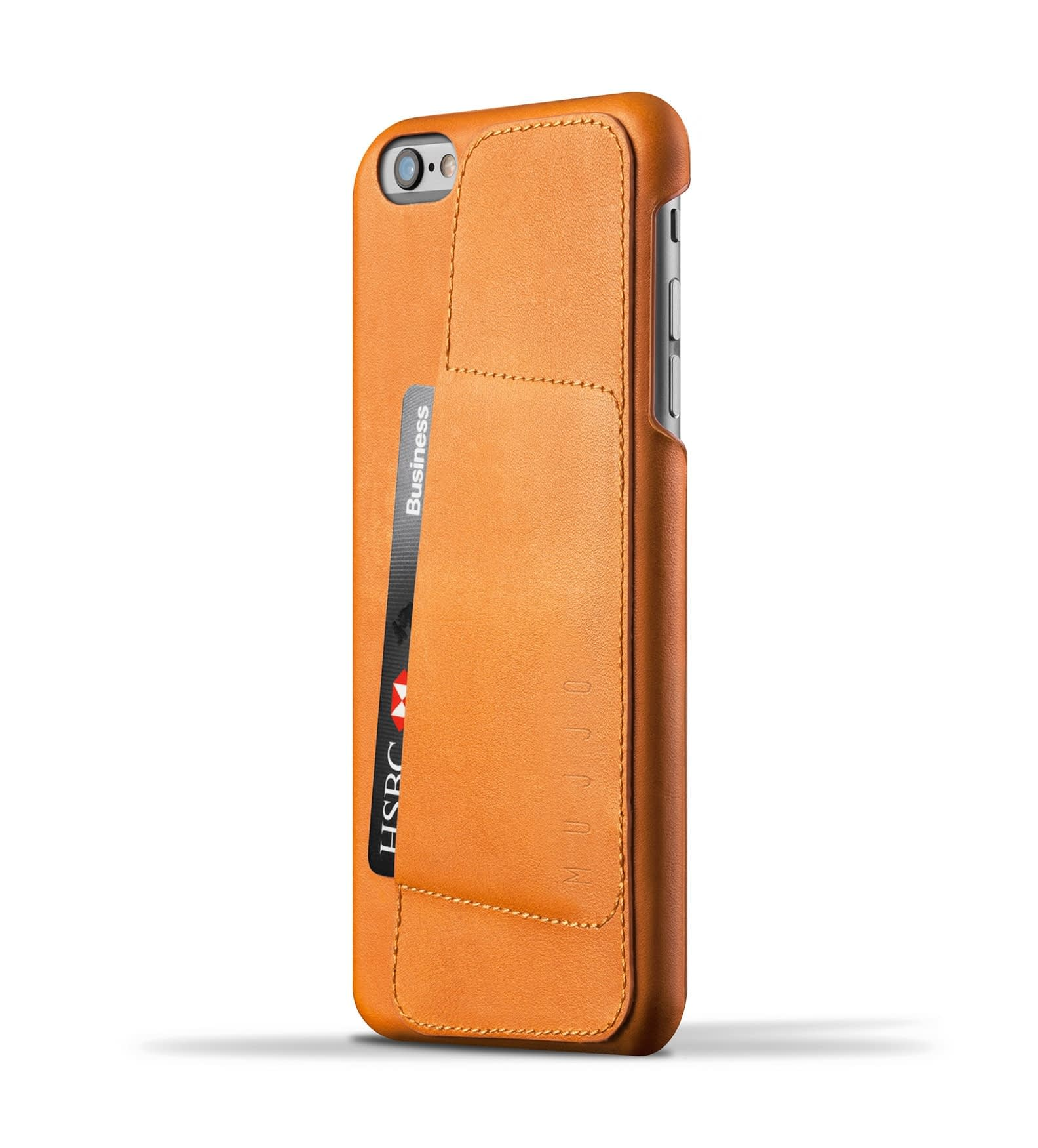 leather wallet case 80 for iphone 6s plus tan