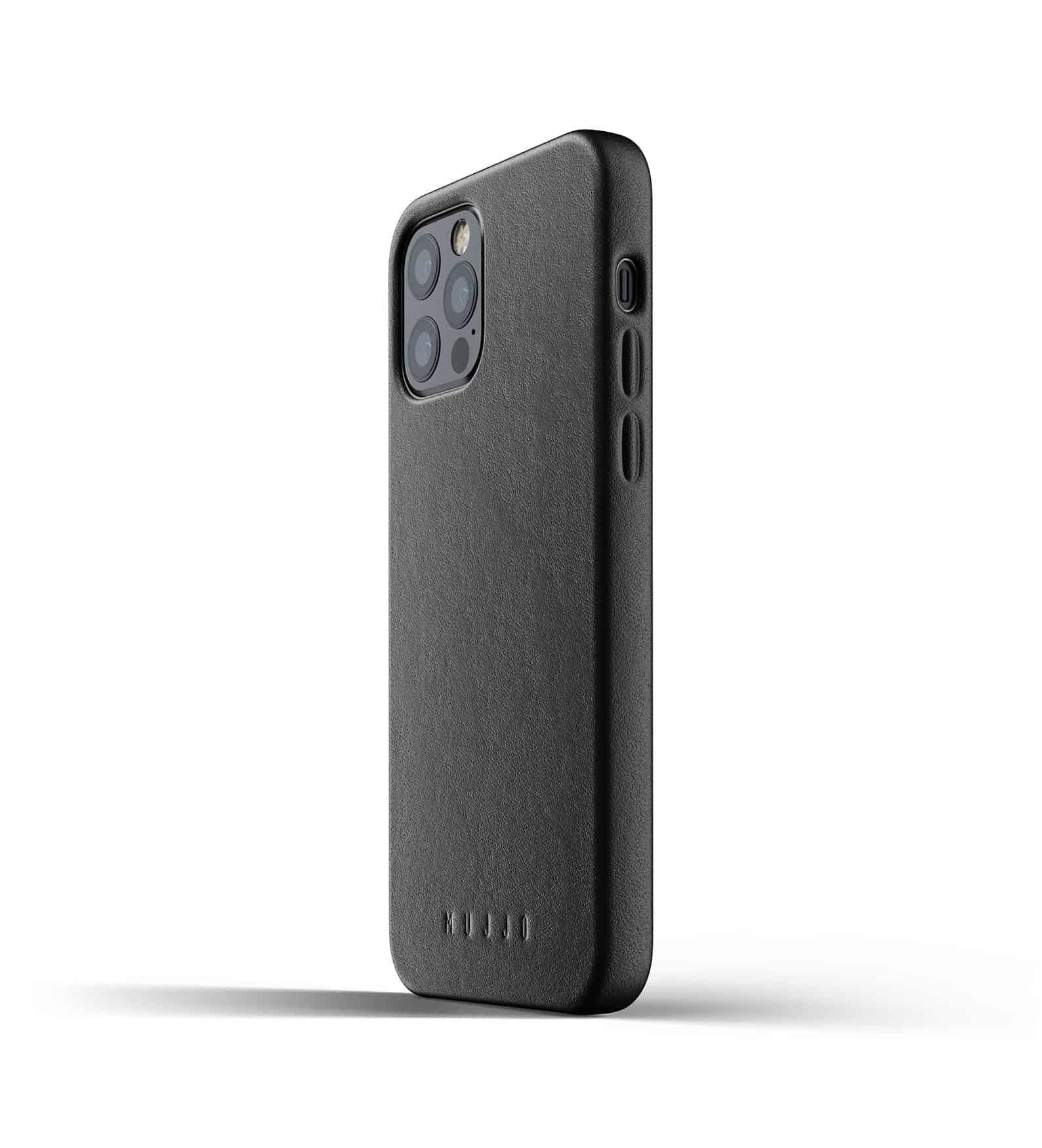 Full Leather Case for iPhone 12 Pro Black Thumbnail 05