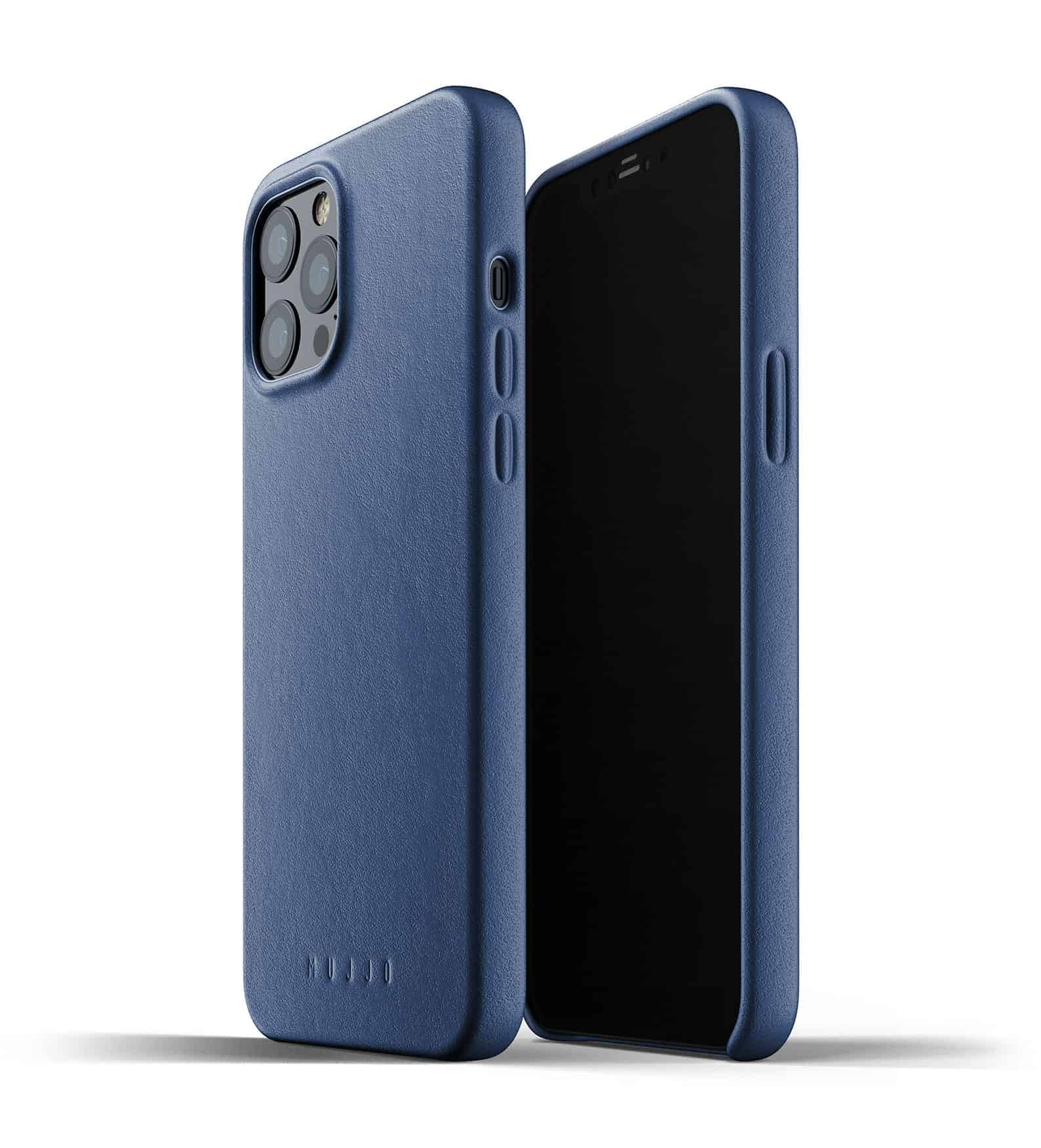 Full Leather Case for iPhone 12 Pro Max Monaco Blue Thumbnail 01