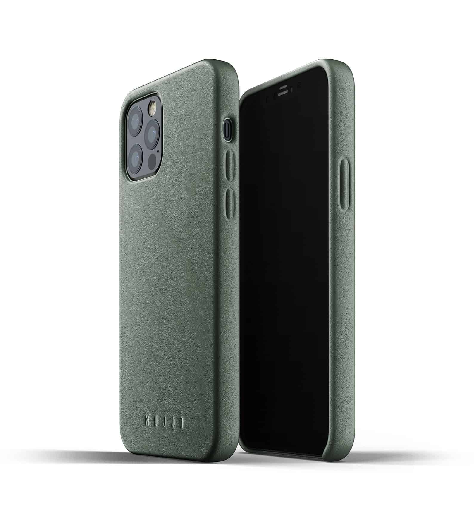 Full Leather Case for iPhone 12 Pro Slate Green Thumbnail 01