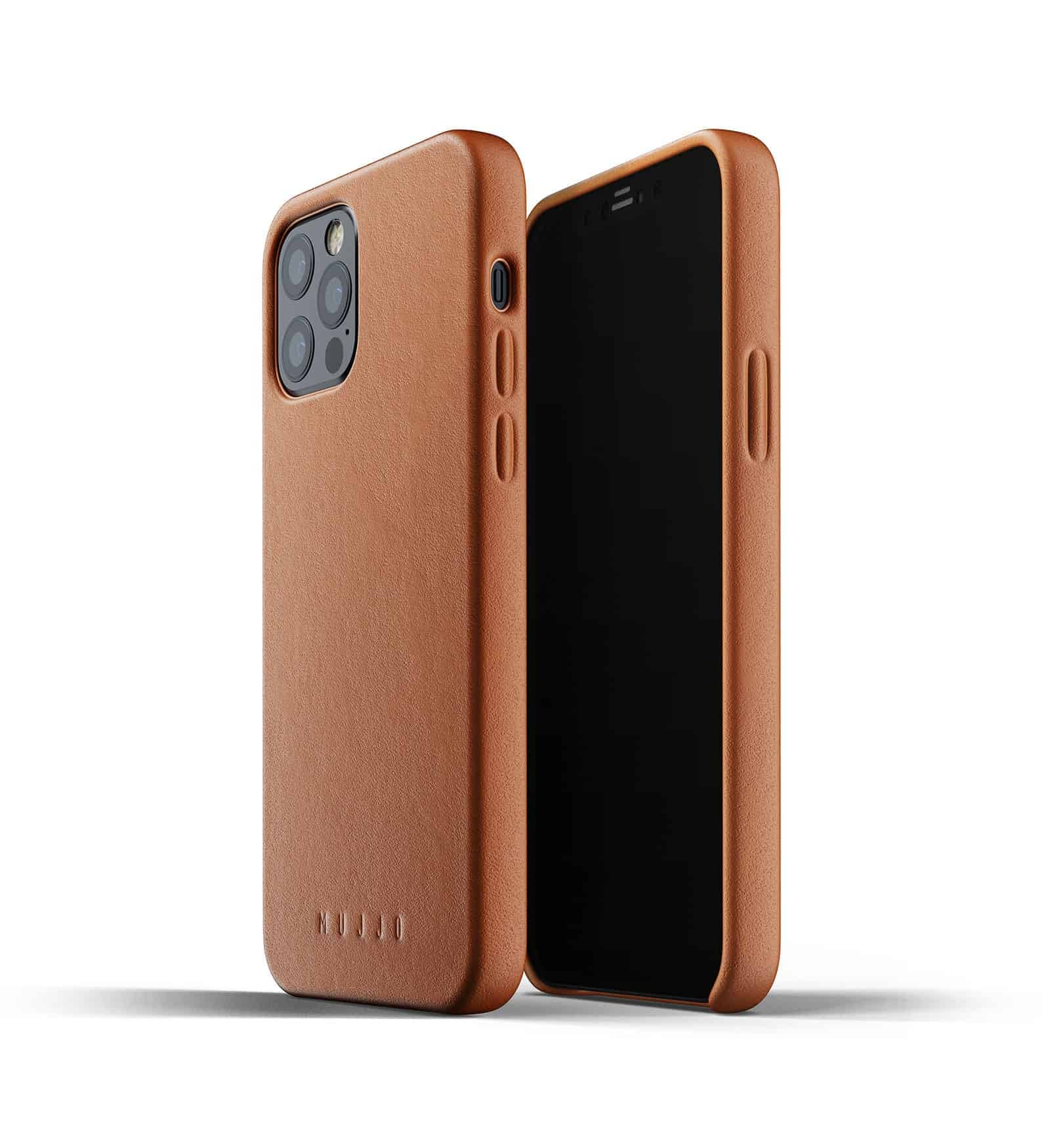 Full Leather Case for iPhone 12 Pro Tan Thumbnail 01