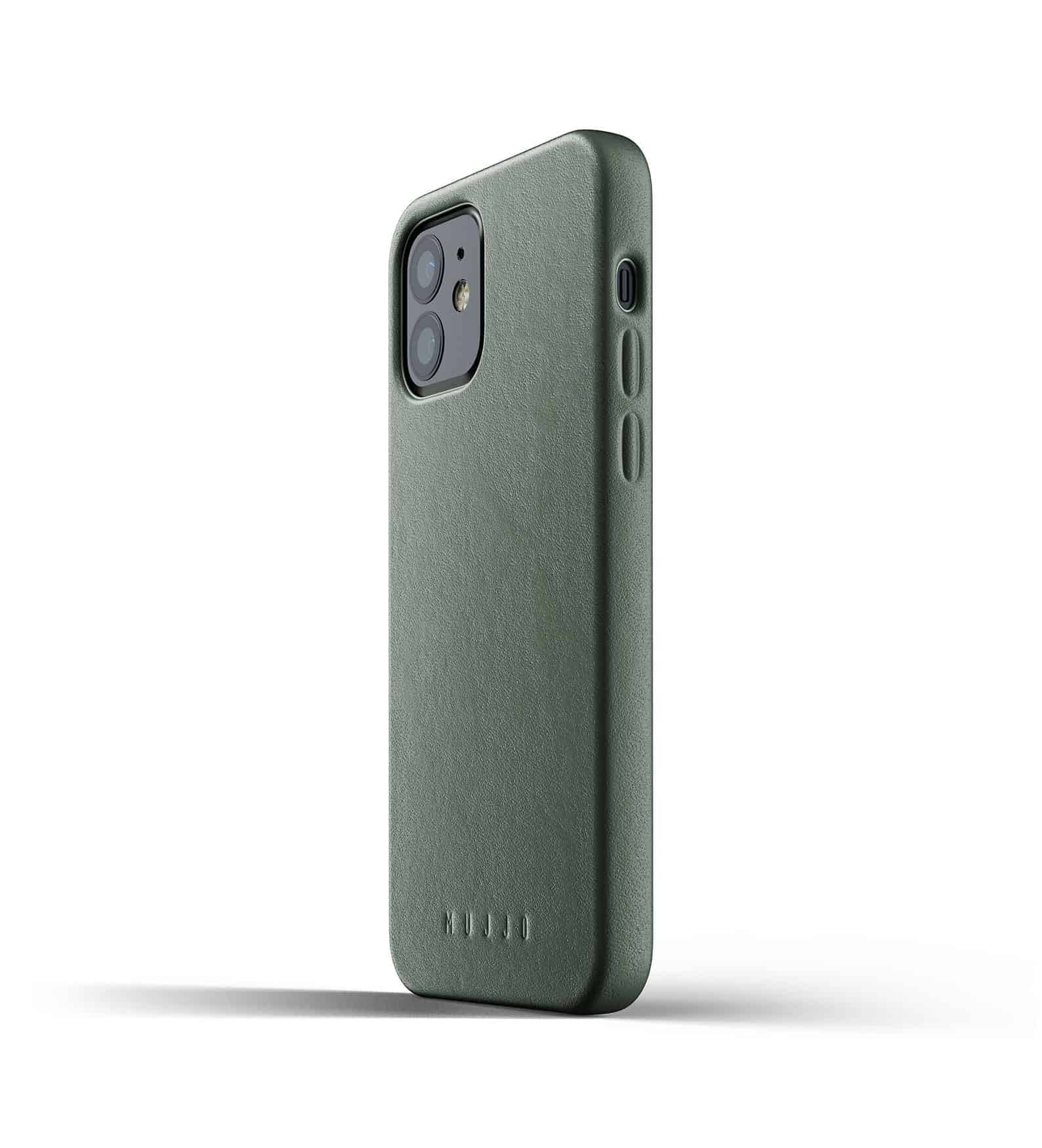 Full Leather Case for iPhone 12 Slate Green Thumbnail 06
