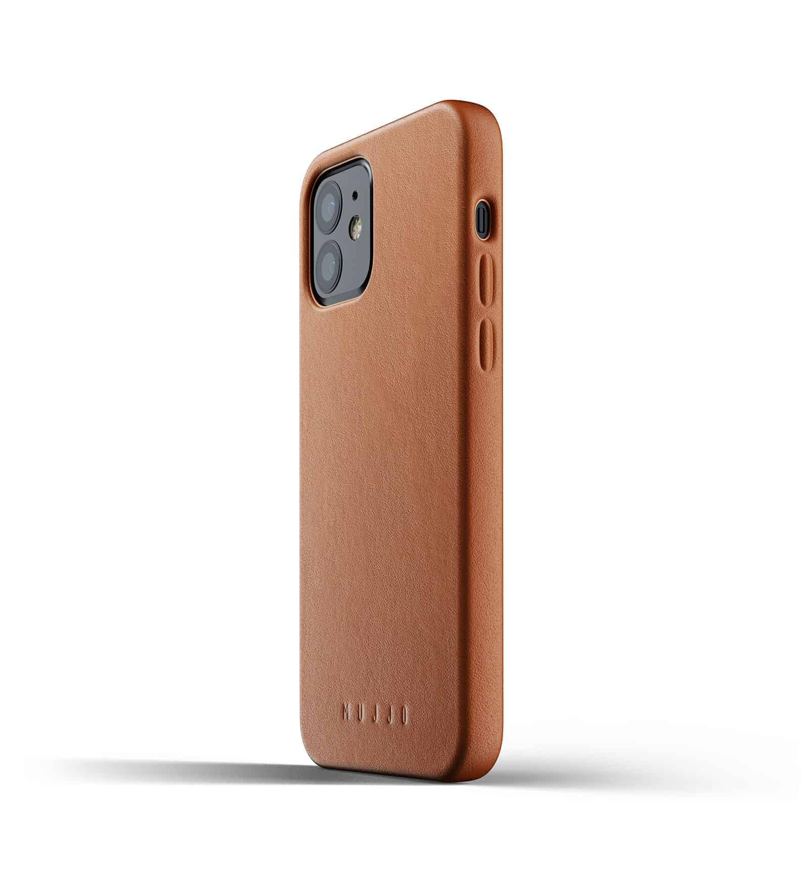 Full Leather Case for iPhone 12 Tan Thumbnail 06