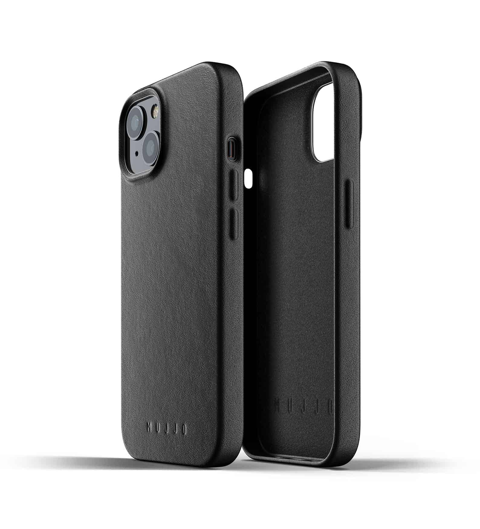 Full Leather Case for iPhone 13 Black Thumbnail 02