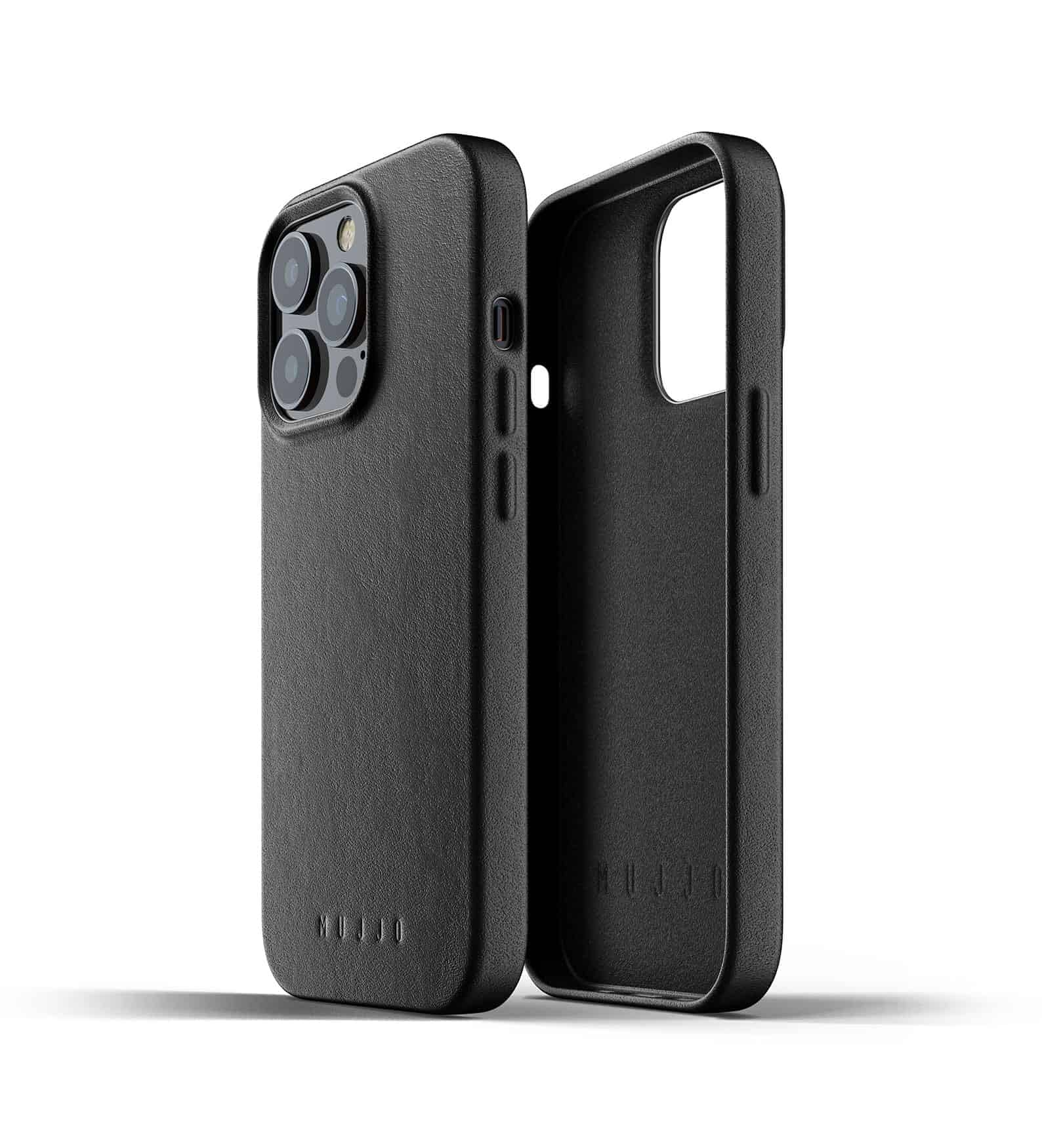 Full Leather Case for iPhone 13 Pro Black Thumbnail 02