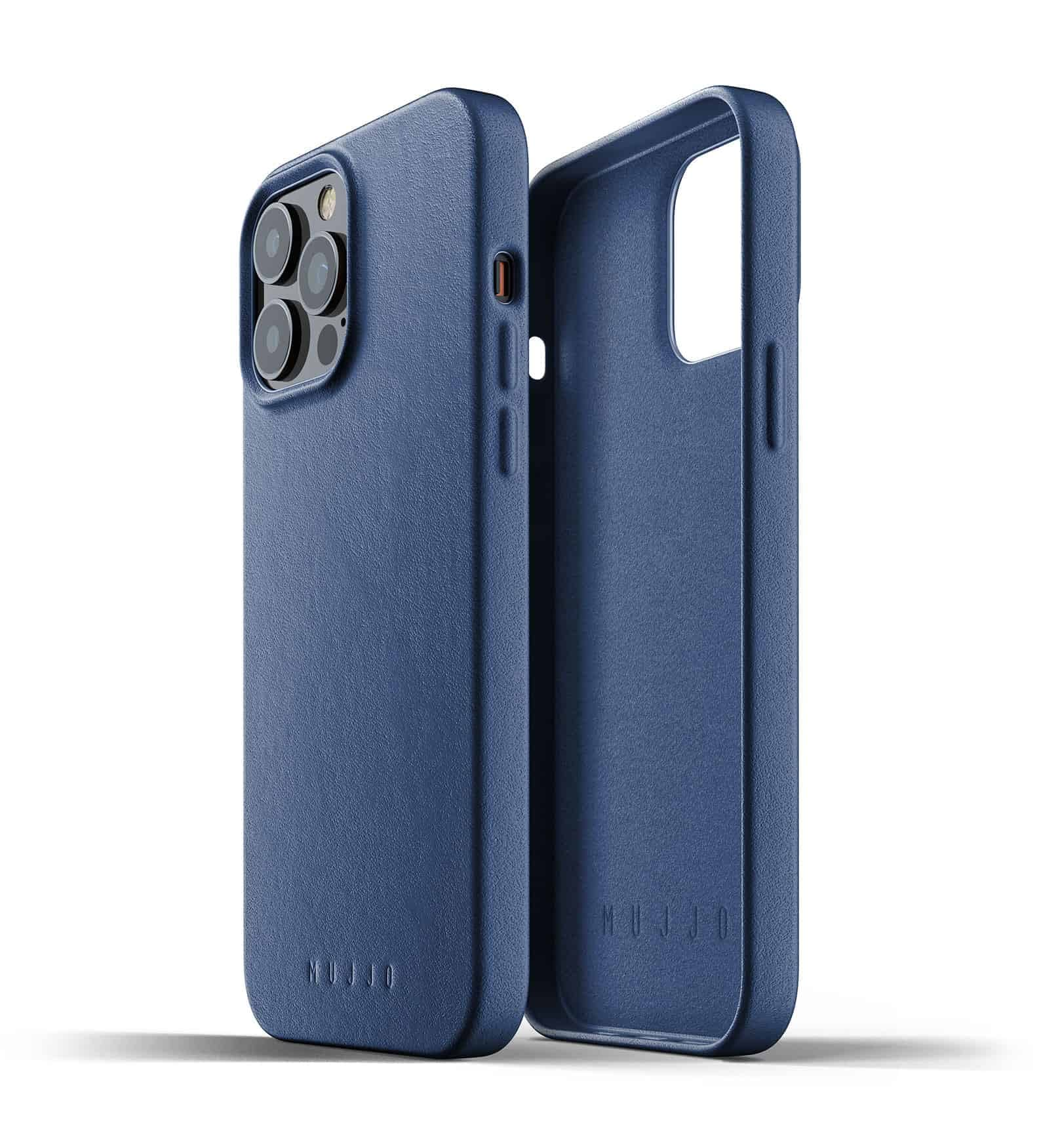 Full Leather Case for iPhone 13 Pro Max Monaco Blue Thumbnail 02