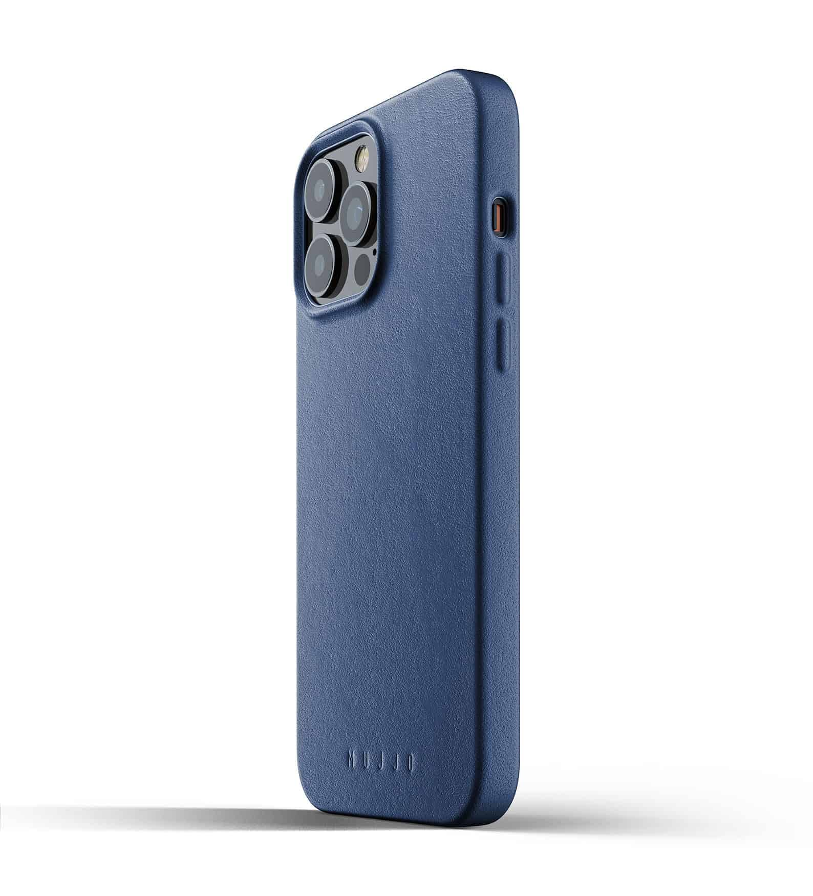 Full Leather Case for iPhone 13 Pro Max Monaco Blue Thumbnail 03