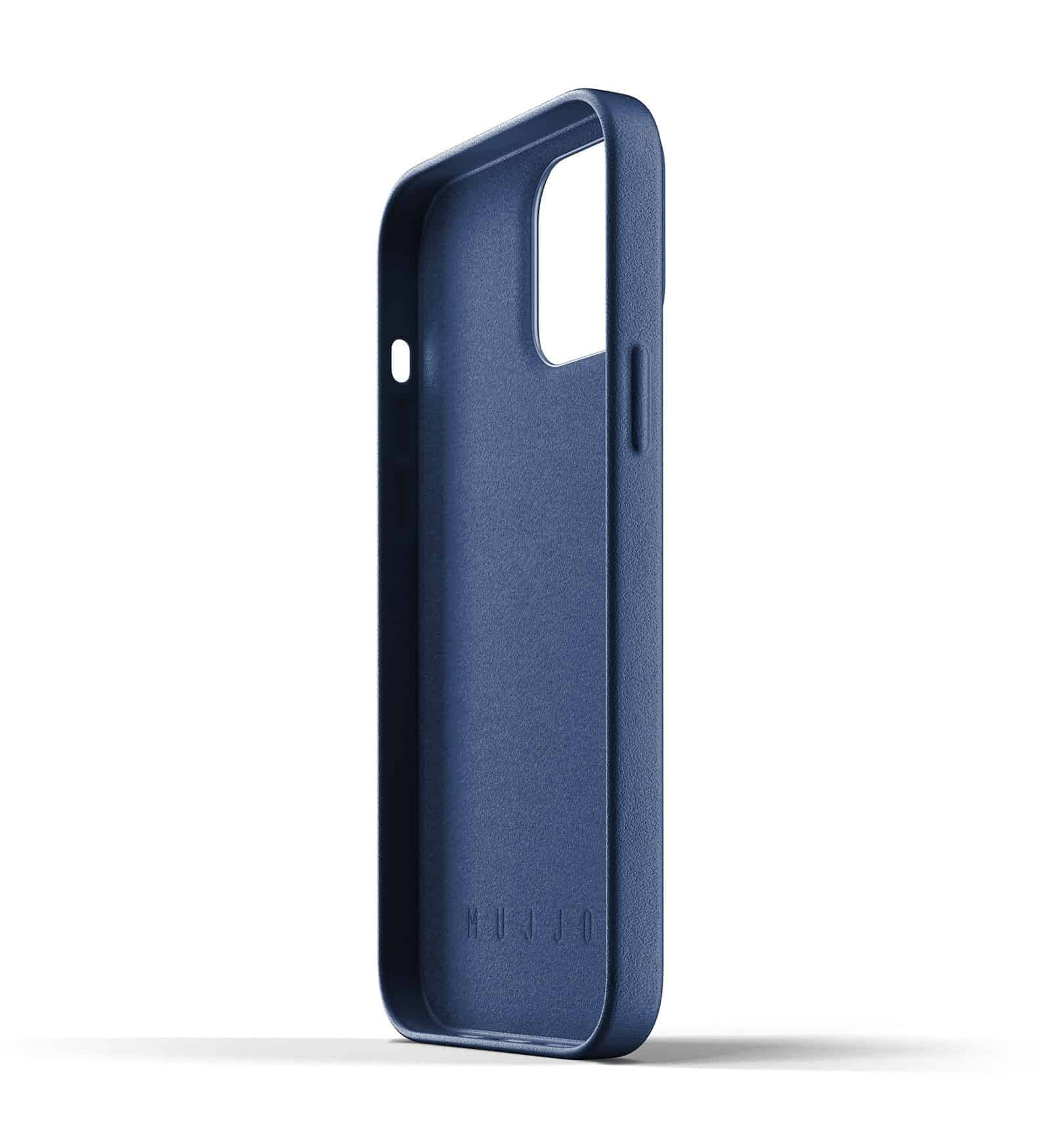 Full Leather Case for iPhone 13 Pro Max Monaco Blue Thumbnail 05