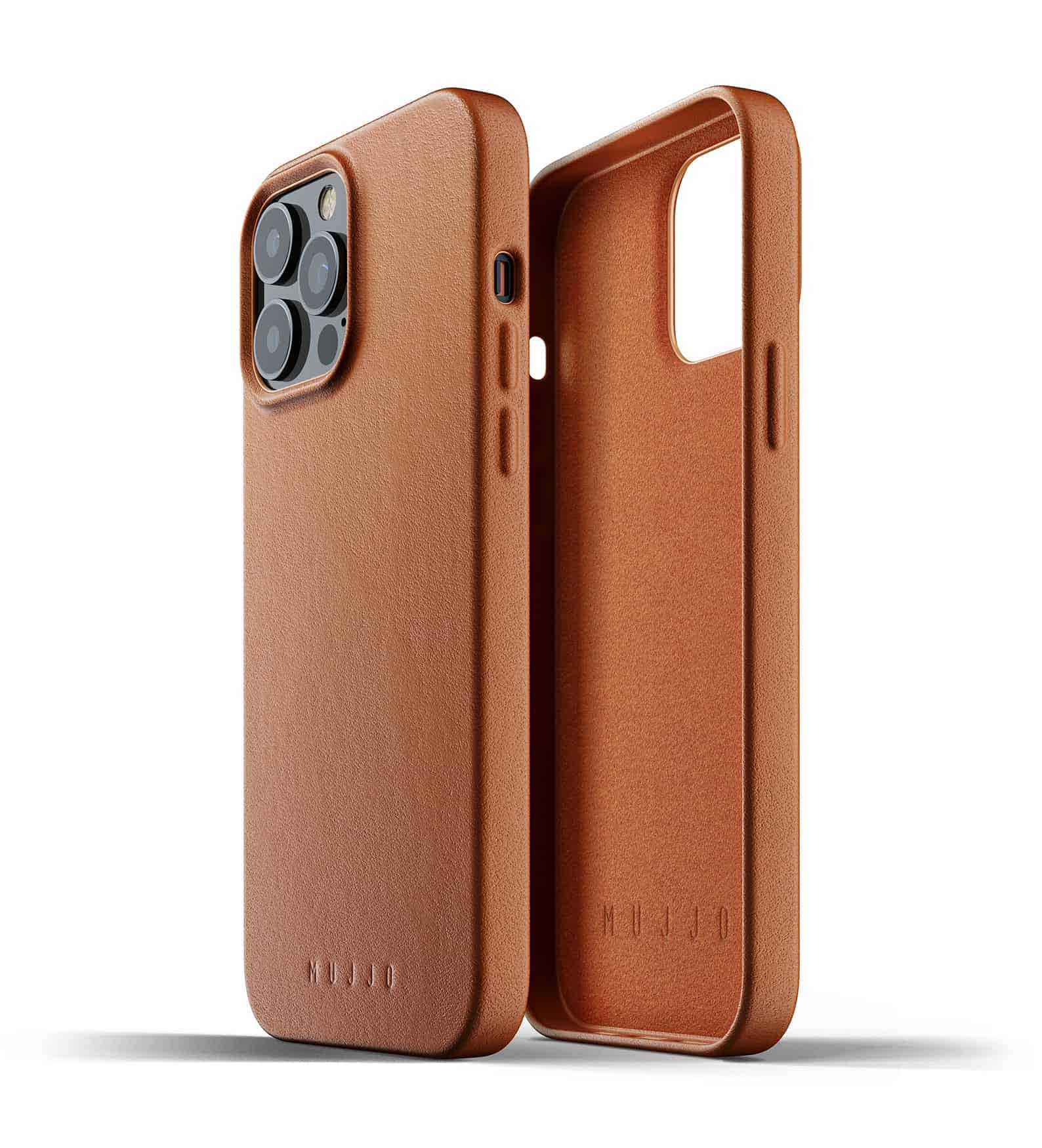 Full Leather Case for iPhone 13 Pro Max Tan Thumbnail 02