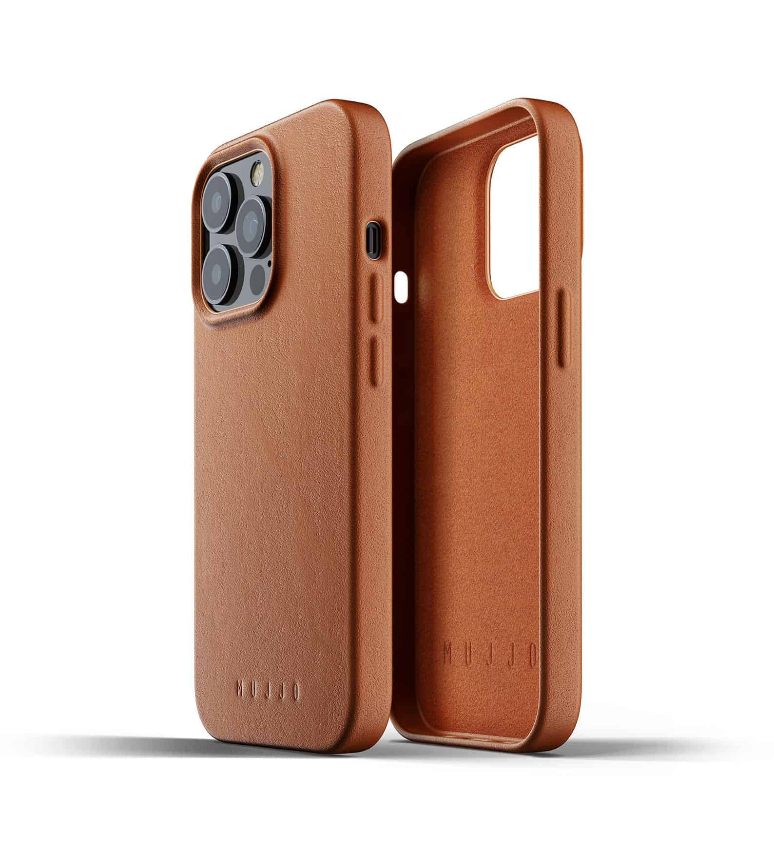 Full Leather Case for iPhone 13 Pro Tan Thumbnail 02