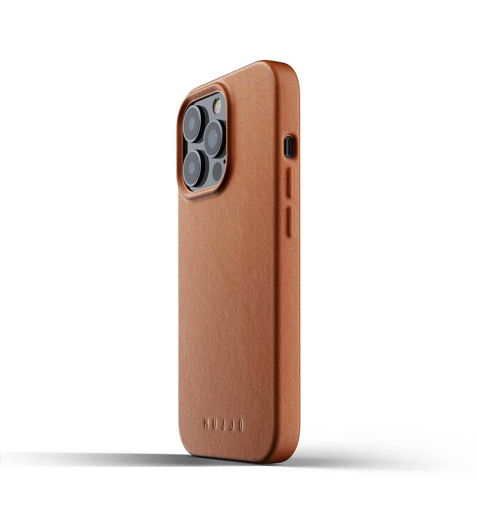 Full Leather Case for iPhone 13 Pro Tan Thumbnail 03