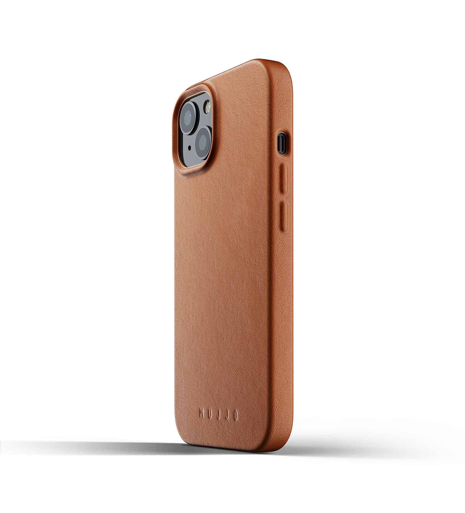 Full Leather Case for iPhone 13 Tan Thumbnail 03
