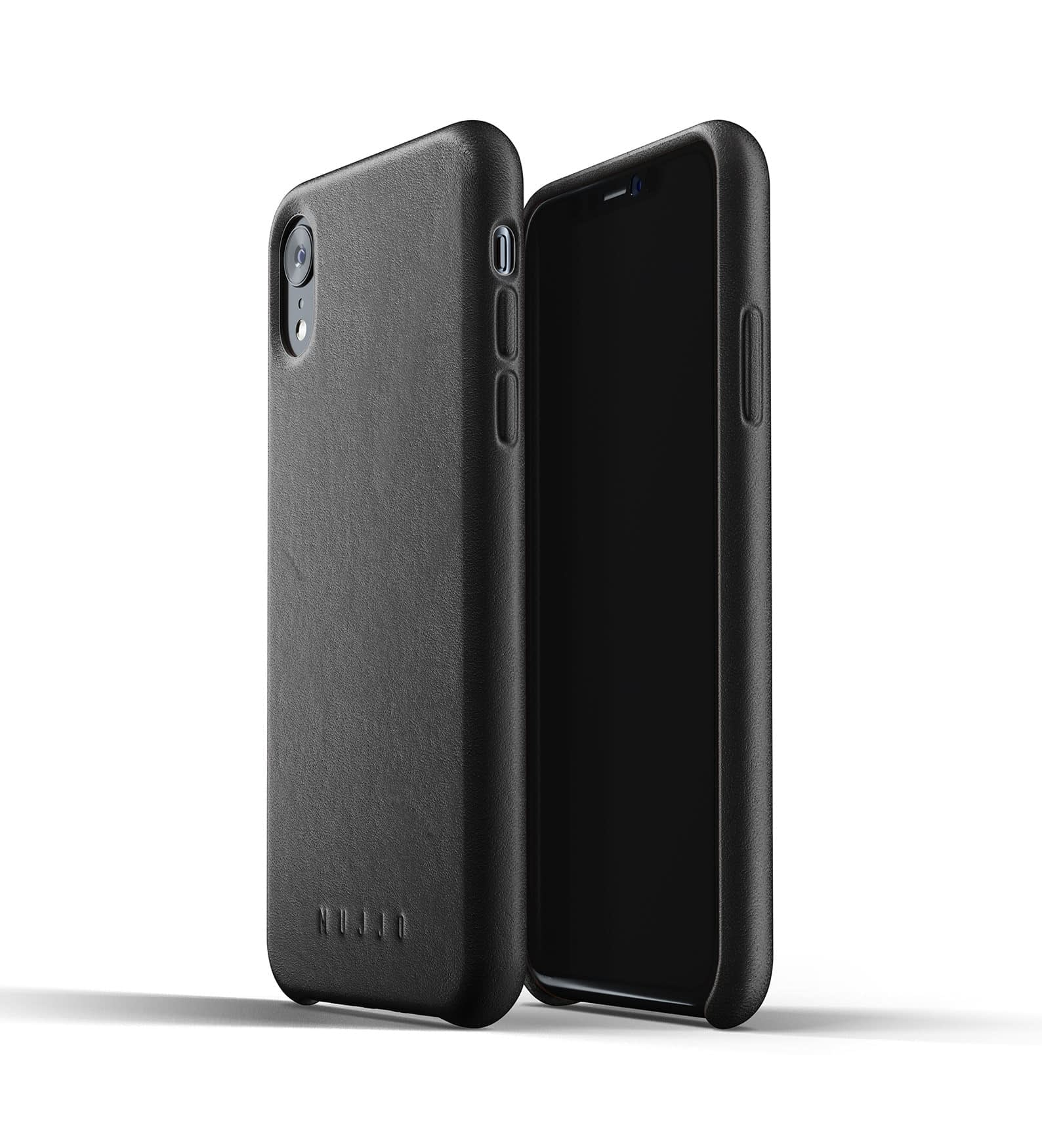 Full Leather Case for iPhone Xr Black Thumbnail 03