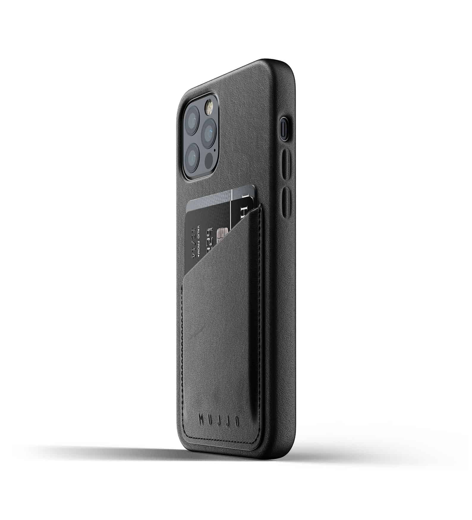 Full Leather Wallet Case for iPhone 12 Pro Black Thumbnail 05