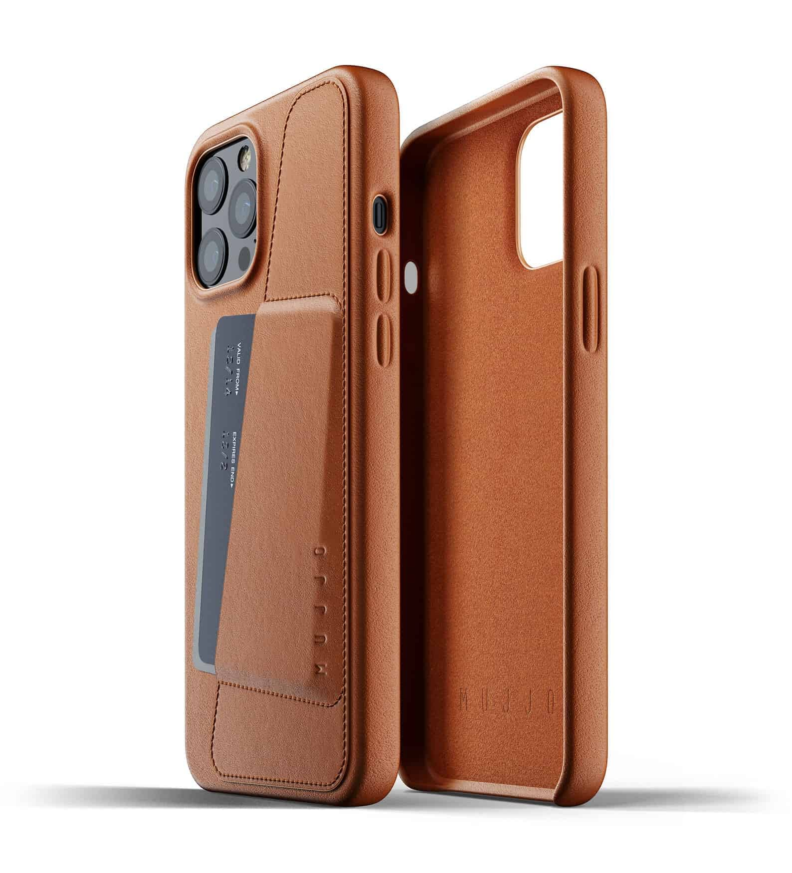 Full Leather Wallet Case for iPhone 12 Pro Max Tan Thumbnail 02