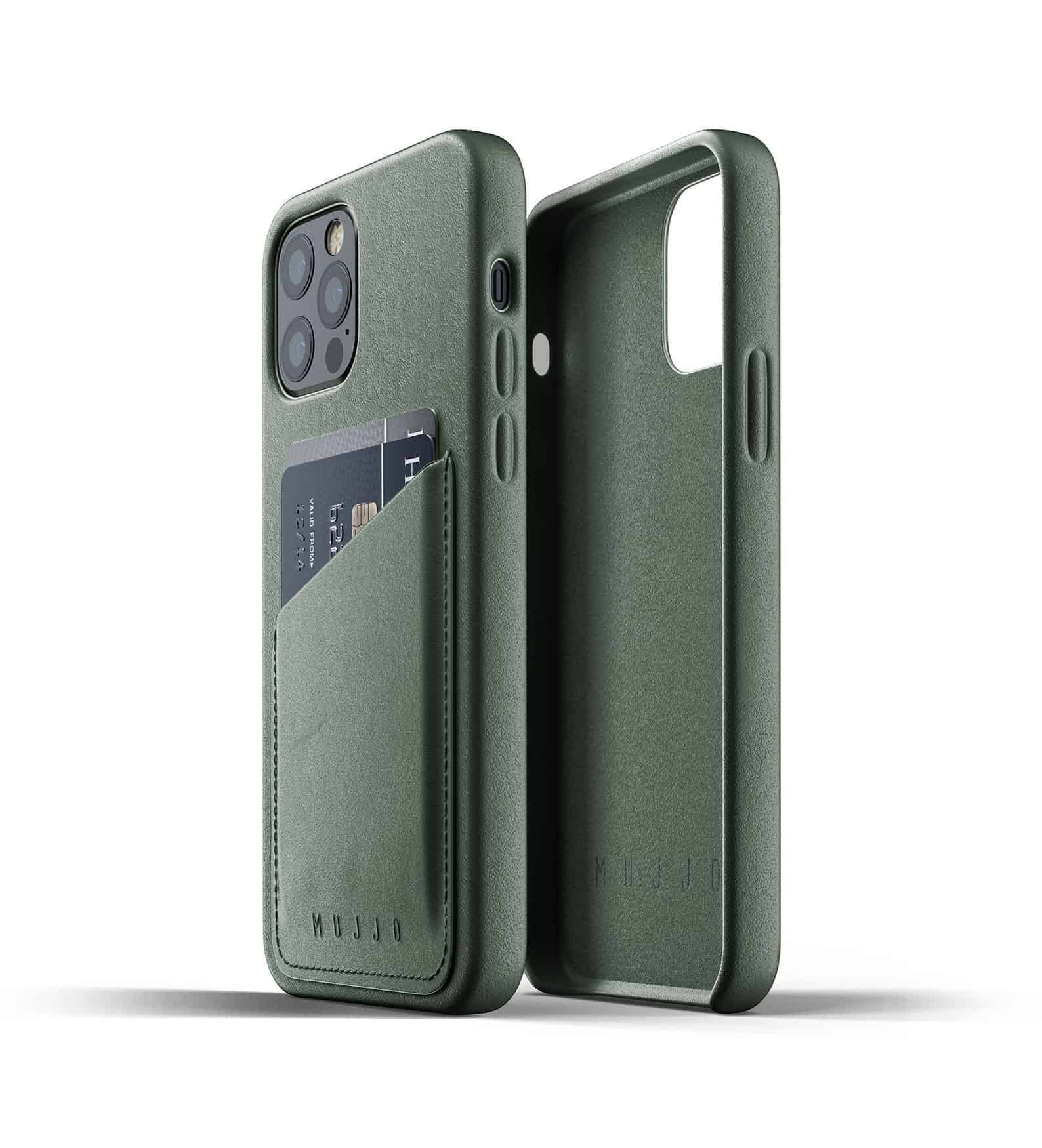 Full Leather Wallet Case for iPhone 12 Pro Slate Green Thumbnail 02