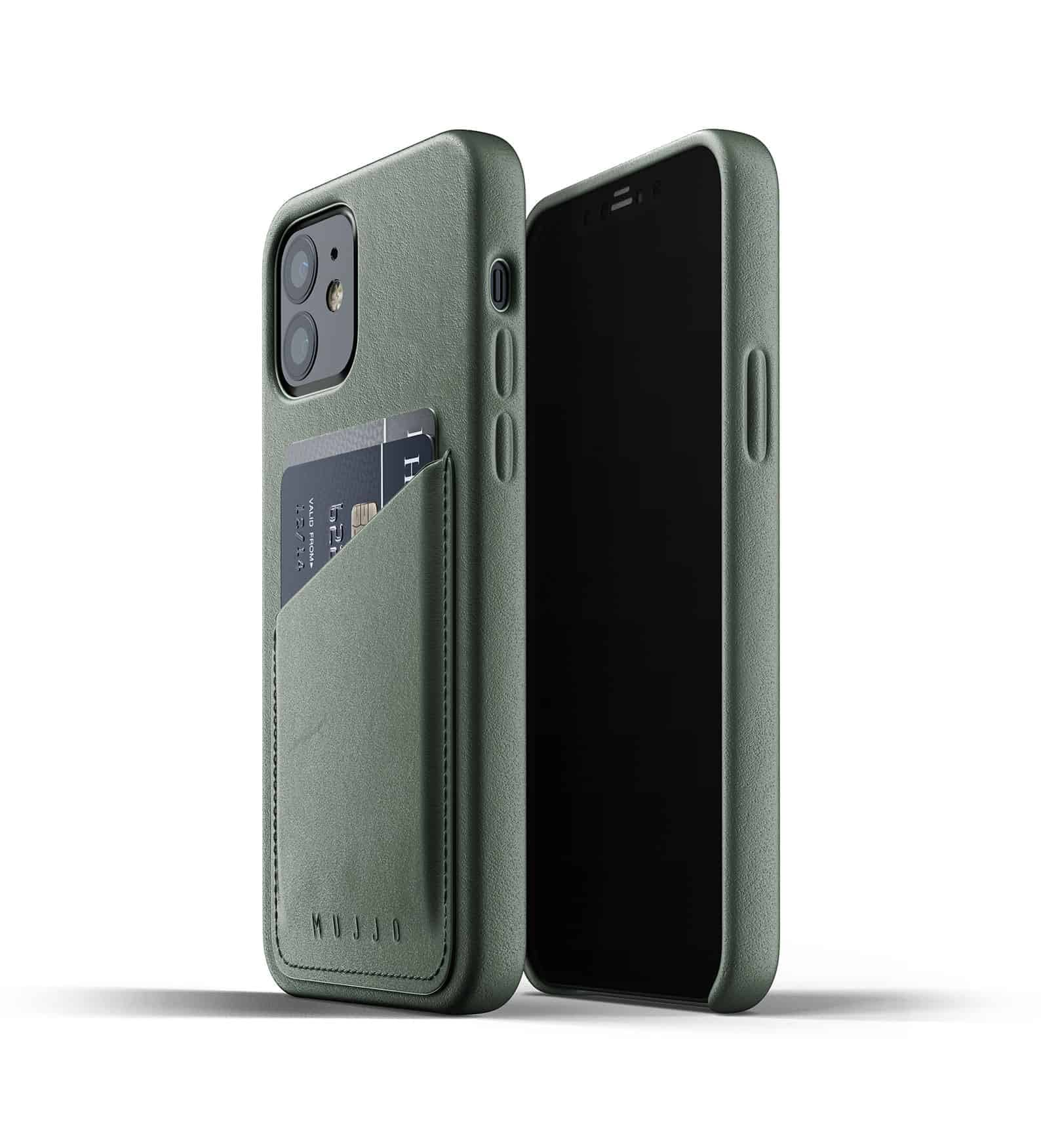 Full Leather Wallet Case for iPhone 12 Slate Green Thumbnail 03
