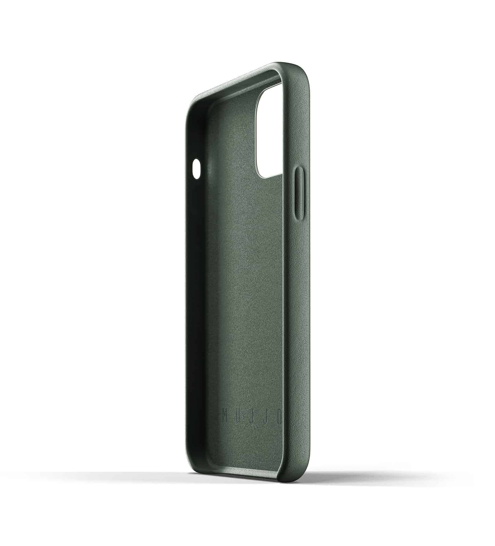 Full Leather Wallet Case for iPhone 12 Slate Green Thumbnail 08
