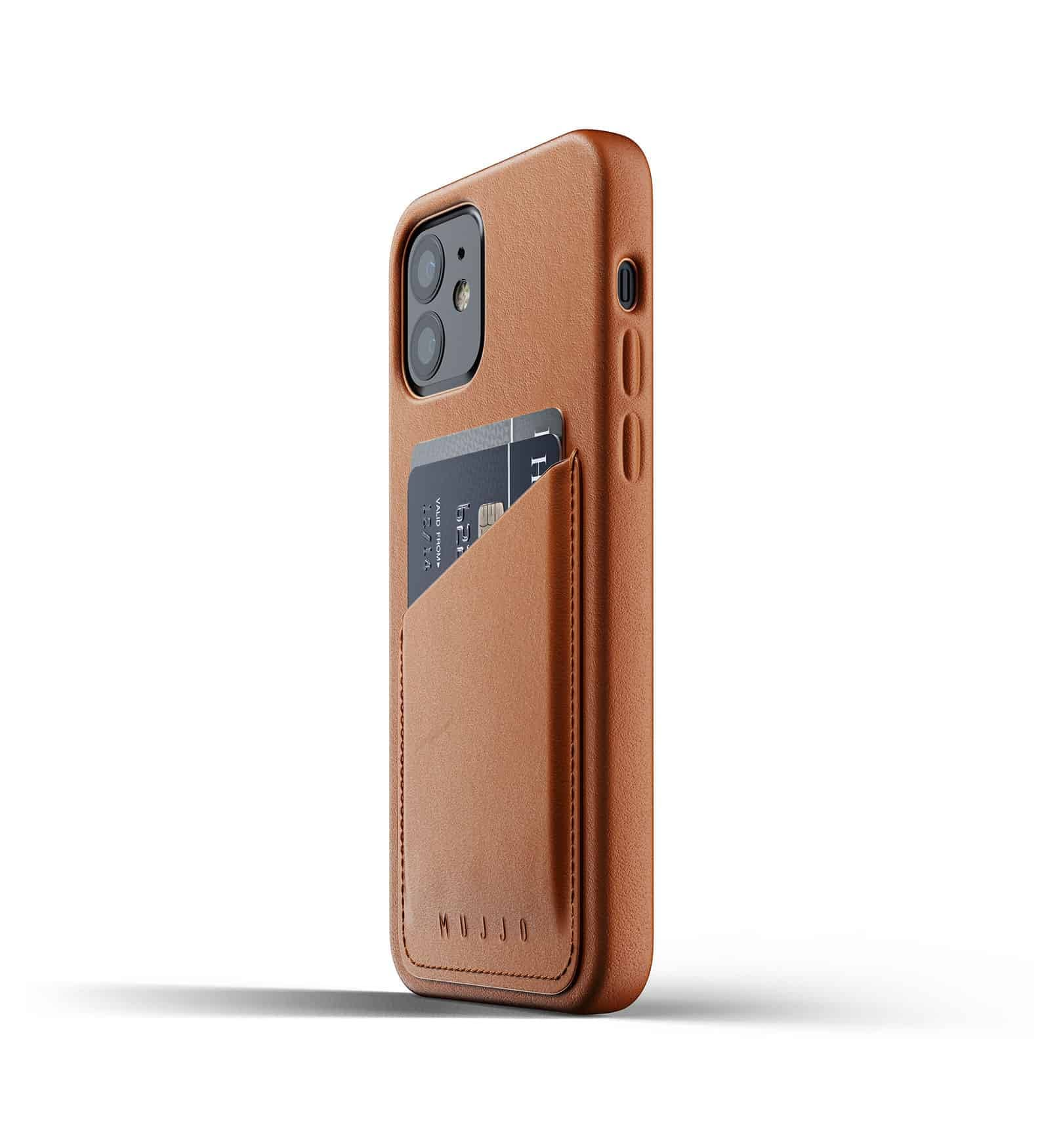 Full Leather Wallet Case for iPhone 12 Tan Thumbnail 06