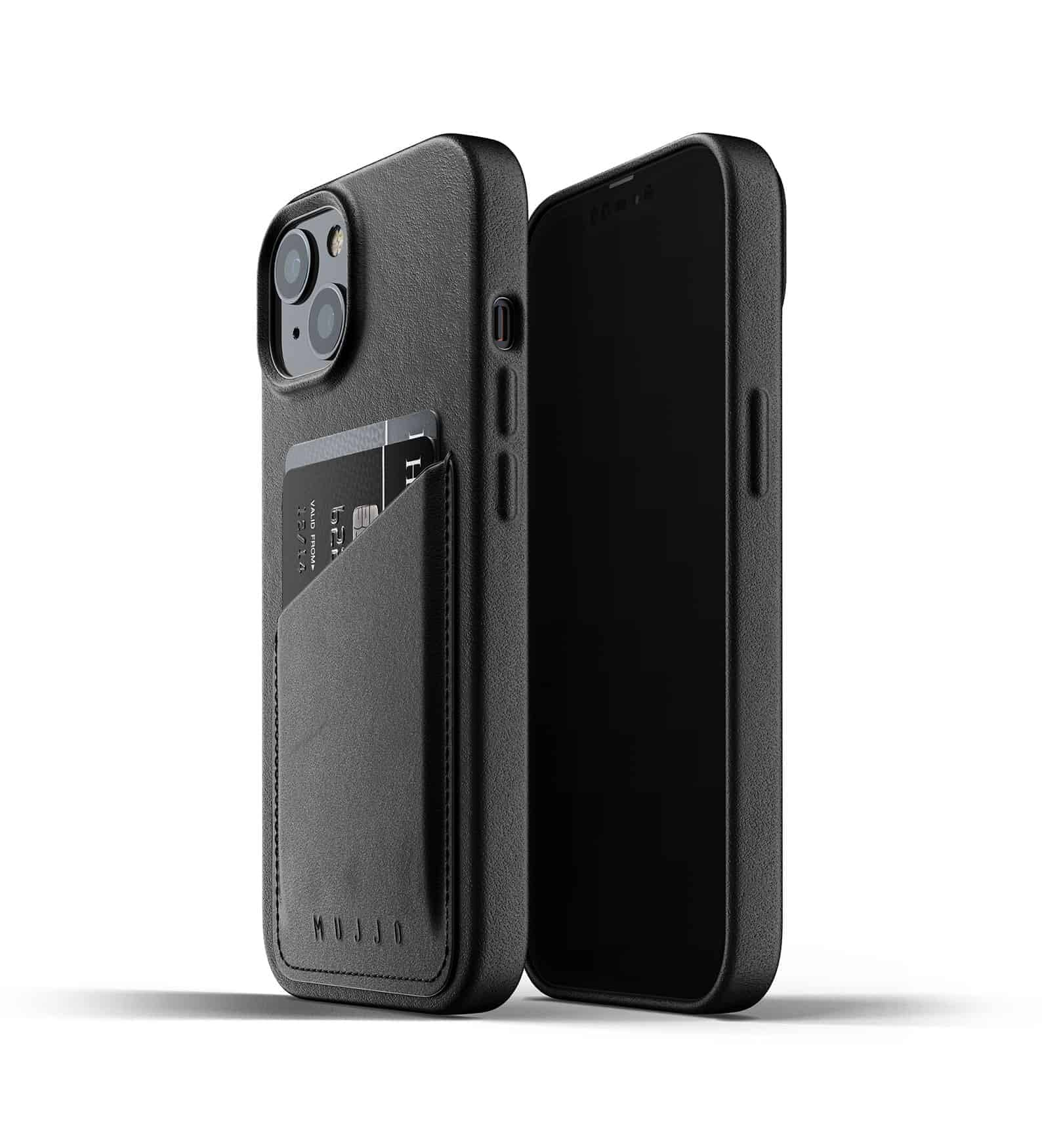 Full Leather Wallet Case for iPhone 13 Black Thumbnail 01
