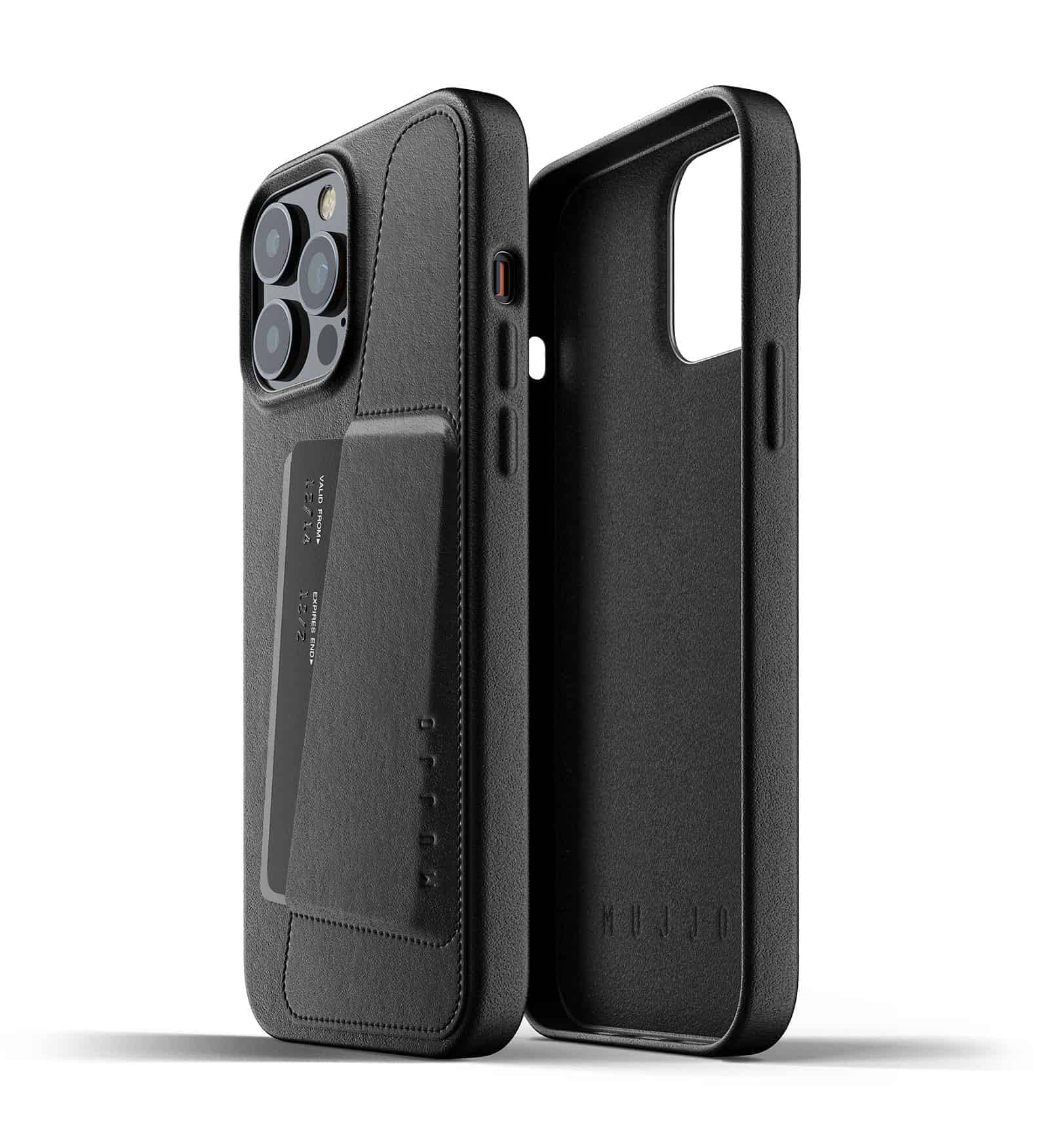Full Leather Wallet Case for iPhone 13 Pro Max Black Thumbnail 02