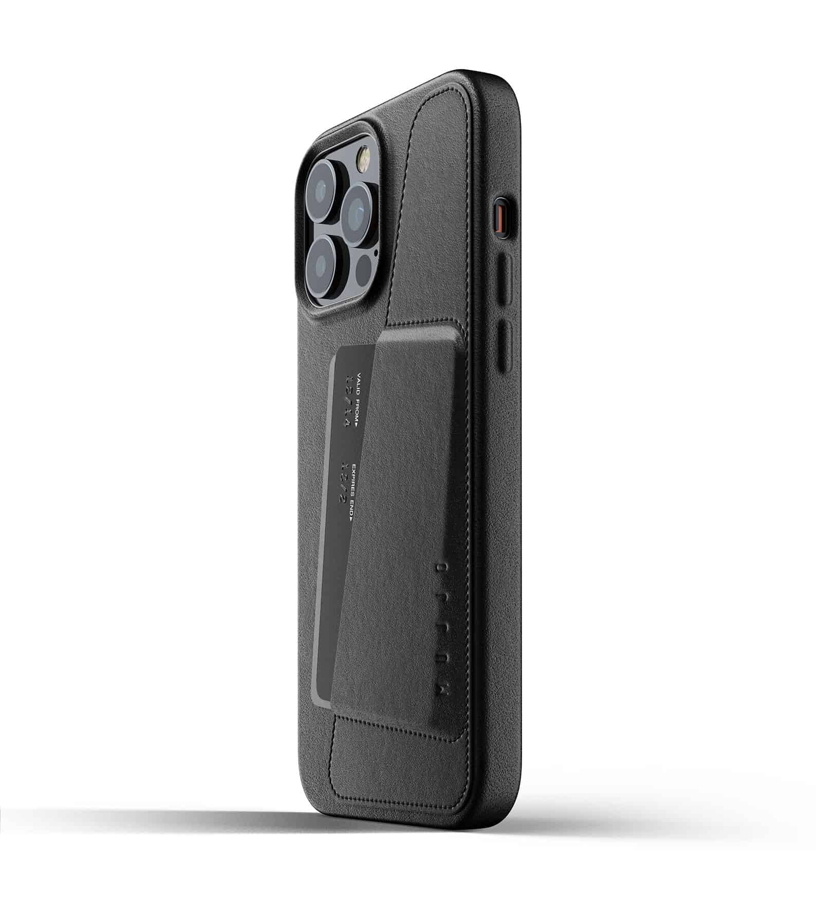 Full Leather Wallet Case for iPhone 13 Pro Max Black Thumbnail 03