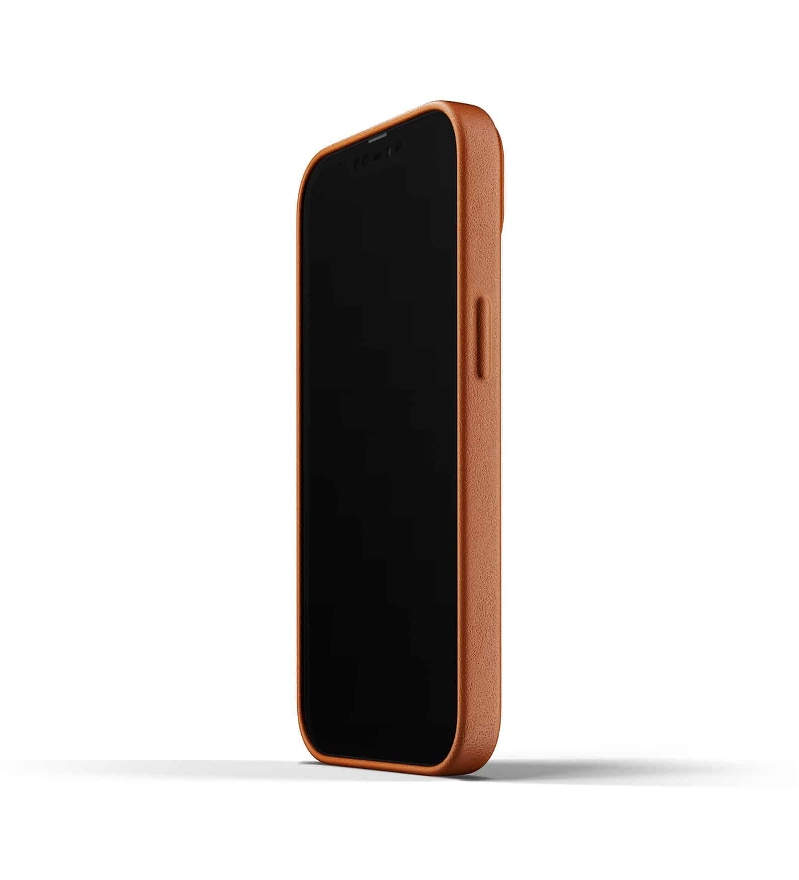 Full Leather Wallet Case for iPhone 13 Tan Thumbnail 04