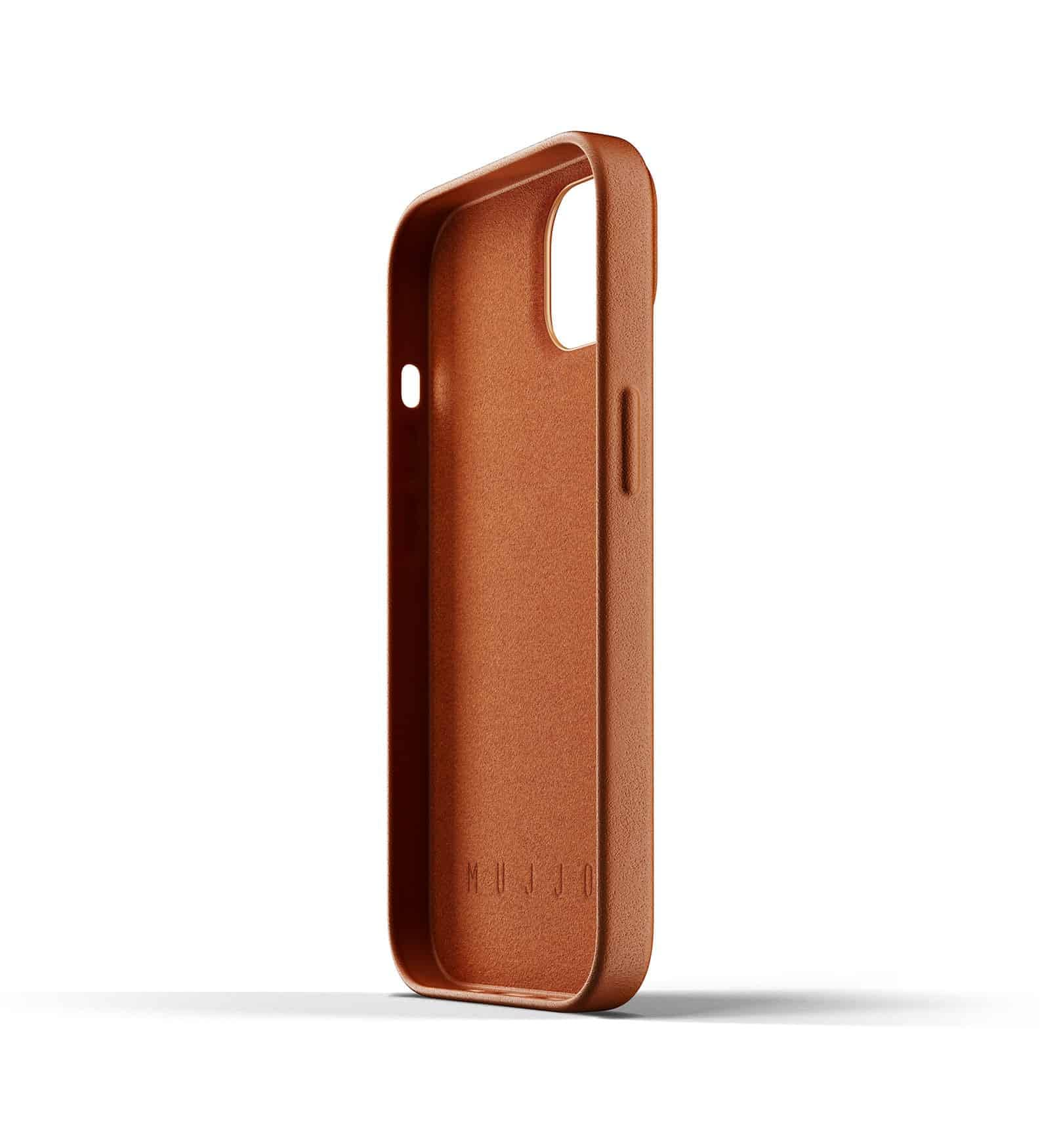 Full Leather Wallet Case for iPhone 13 Tan Thumbnail 05