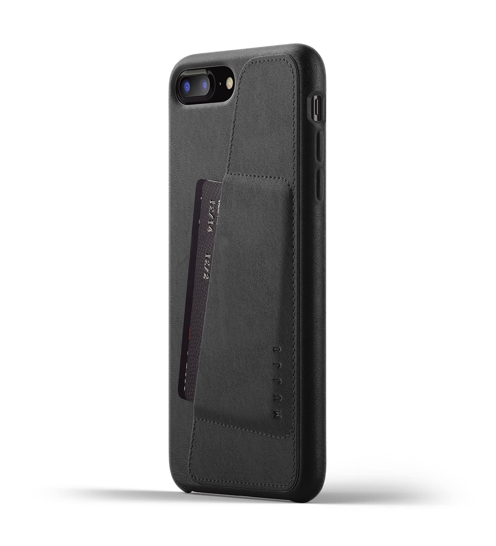 Full Leather Wallet Case for iPhone 8 Plus Black Thumbnail 01