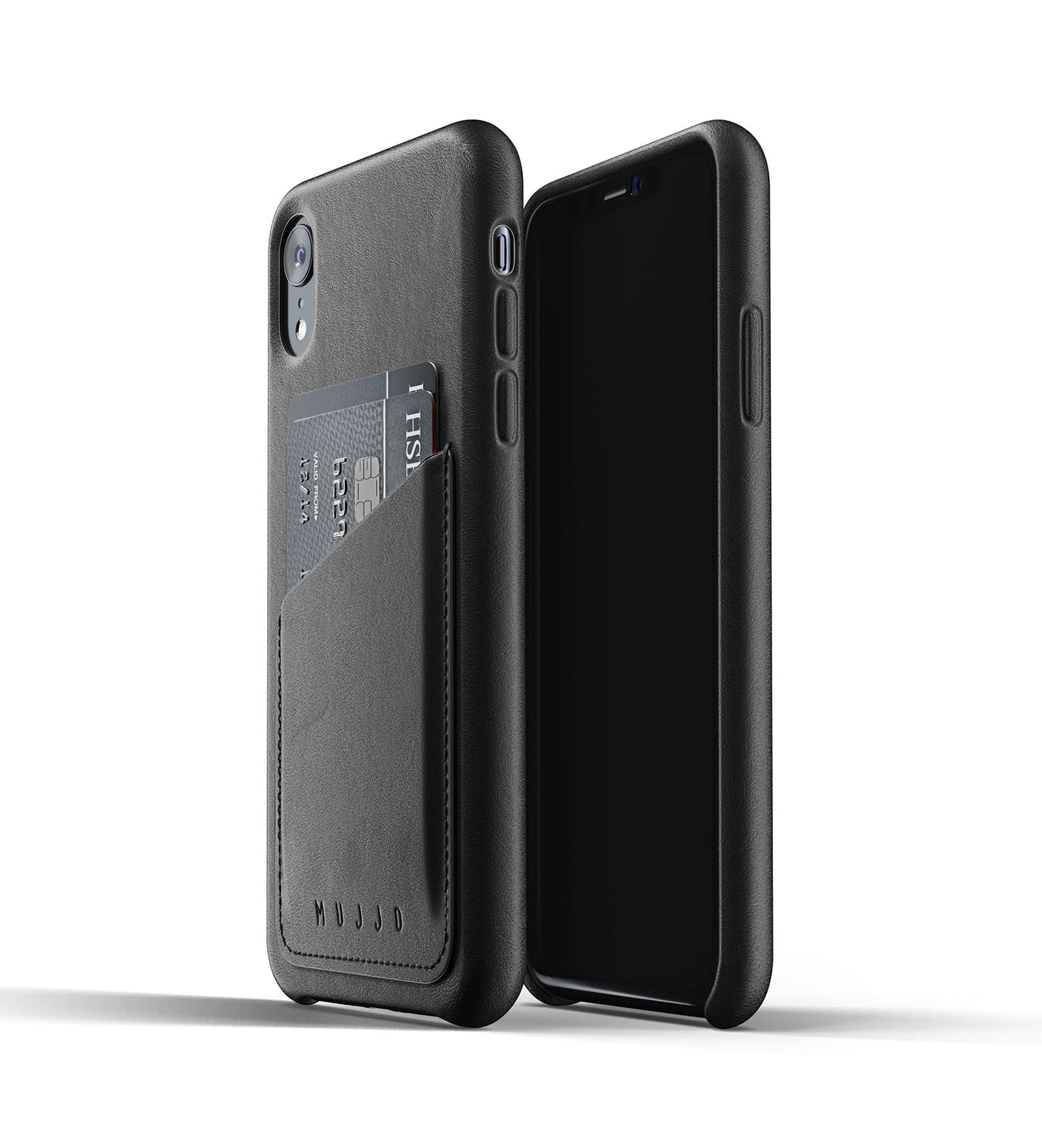 Full Leather Wallet Case for iPhone Xr Black Thumbnail 03
